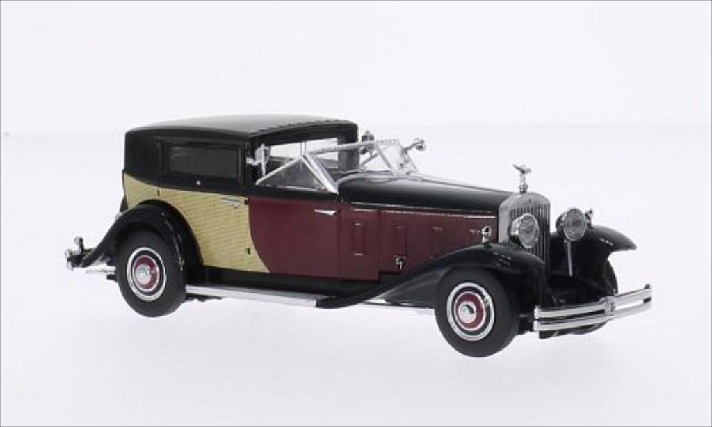 Rolls Royce Phantom 1/43 Dongguan II noire/rouge 1933 miniature