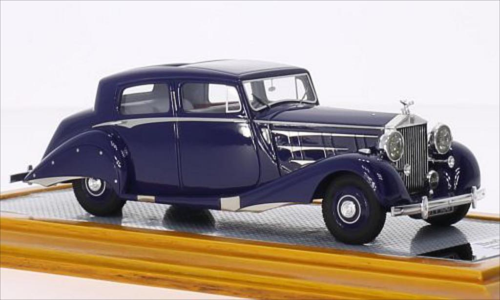 Rolls Royce Phantom 1/43 Ilario III Sedanca De Ville Hooper bleu RHD 1937 miniature