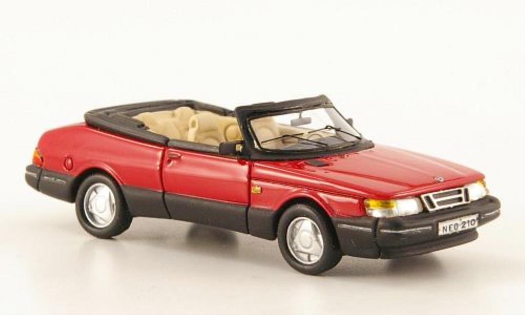 Saab 900 1/87 Neo Cabriolet rouge 1987 miniature