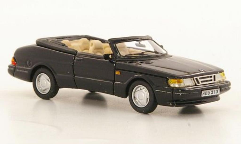 Saab 900 Turbo 1/87 Neo Cabriolet noire 1987 miniature