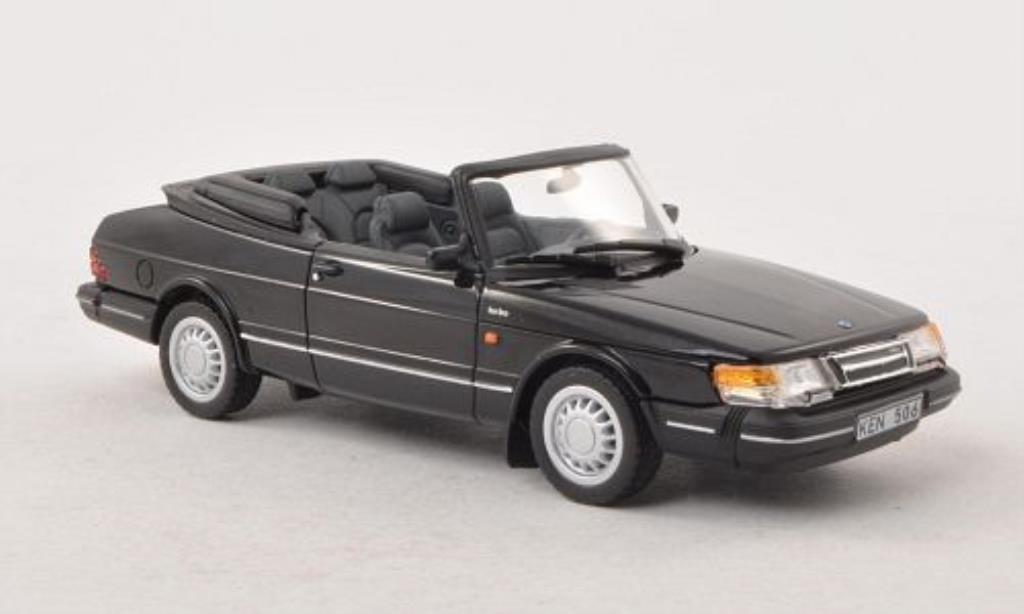 Saab 900 Turbo 1/43 Norev Cabriolet noire 1991 miniature