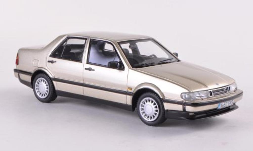 Saab 9000 1/43 Neo CDE beige 1989 miniature