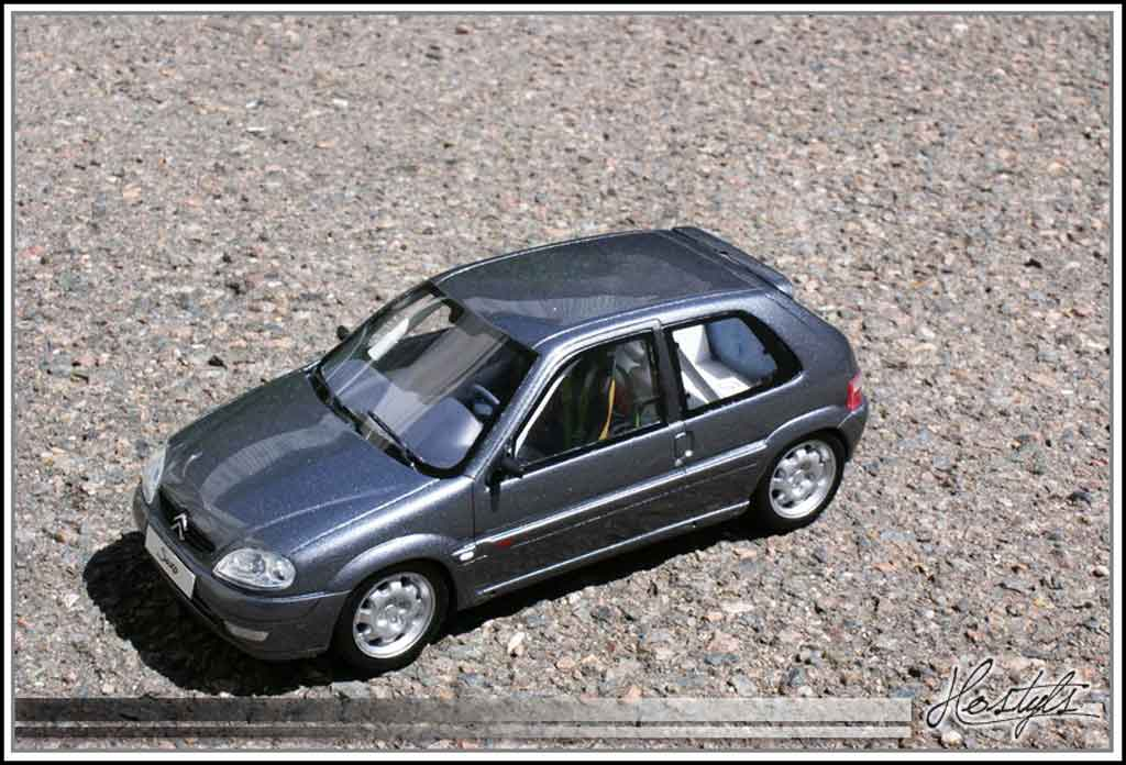 Citroen Saxo 1/18 Ottomobile vts grise orageux preparation circuit tuning miniature