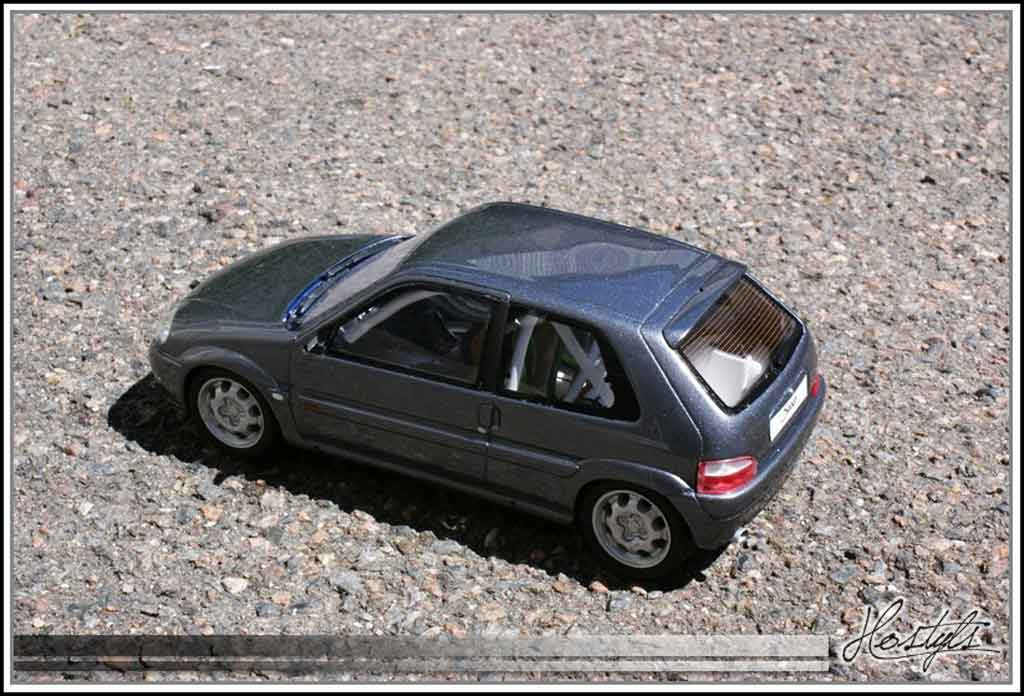 Citroen Saxo 1/18 Ottomobile vts grise orageux preparation circuit