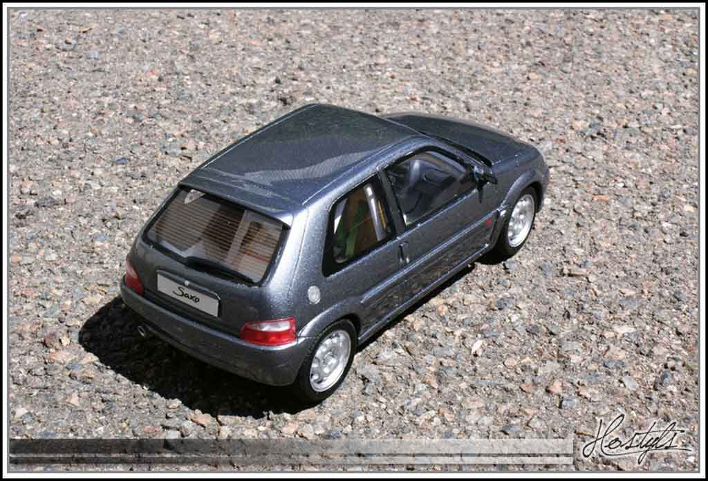 Citroen Saxo 1/18 Ottomobile vts gray orageux preparation circuit