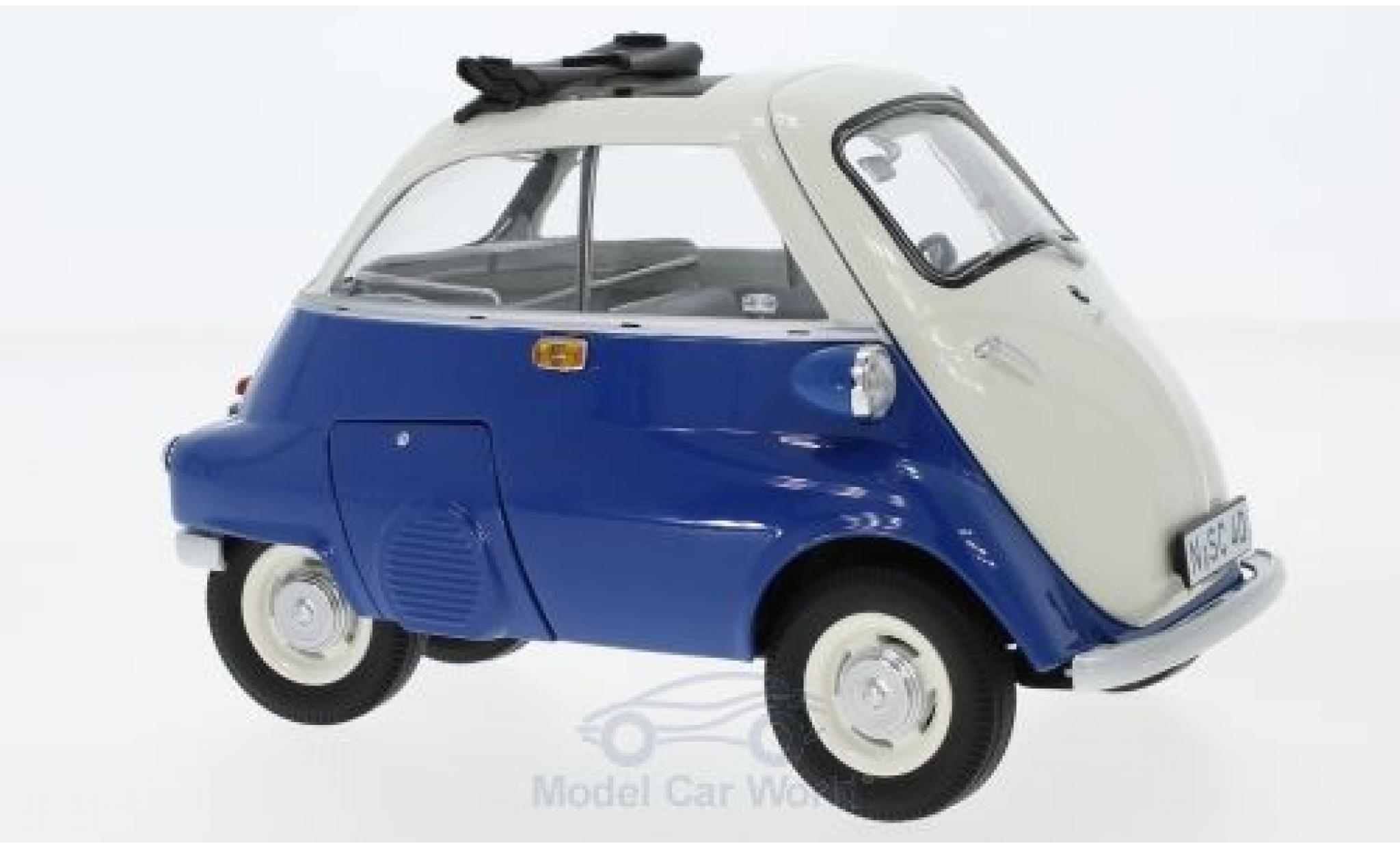 Bmw Isetta 1/18 Schuco blue/beige Export