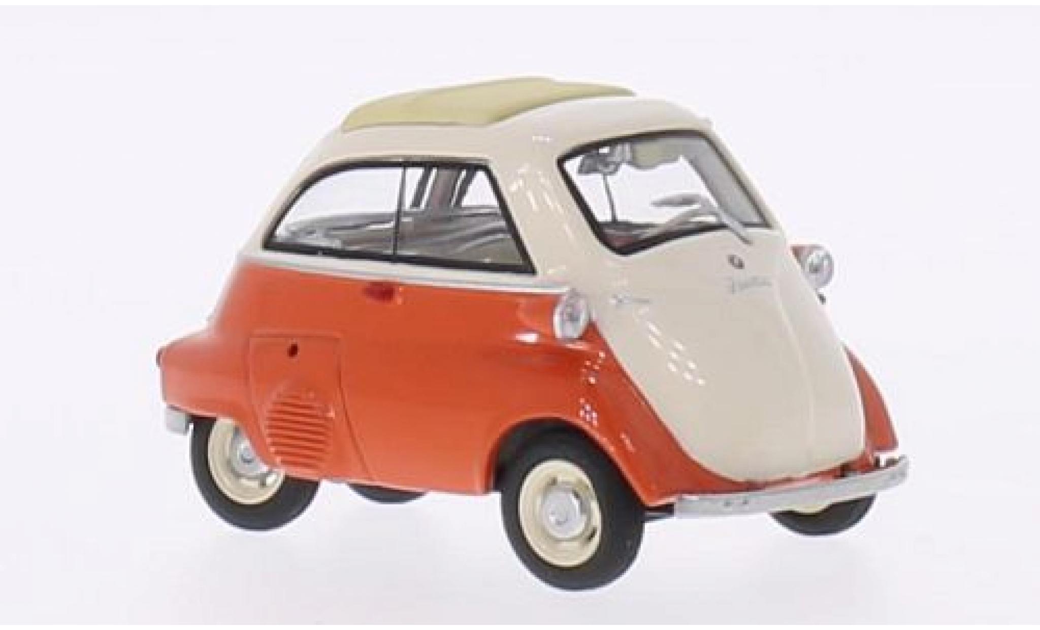Bmw Isetta 1/43 Schuco orange/beige toit rabattable fermé