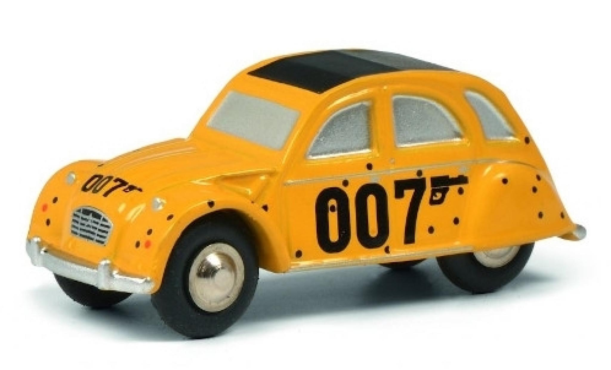 Citroen 2CV 1/90 Schuco jaune James Bond 007
