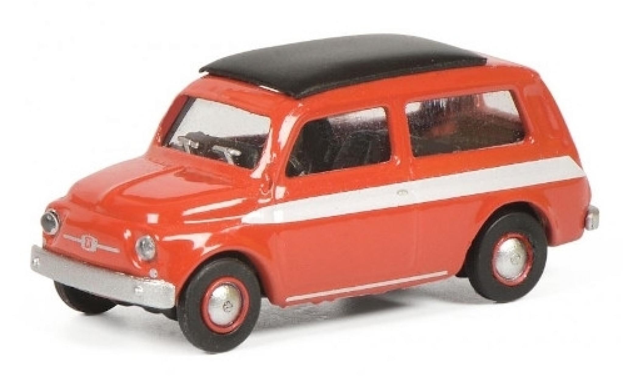 Fiat 500 1/87 Schuco Giardiniera red/white