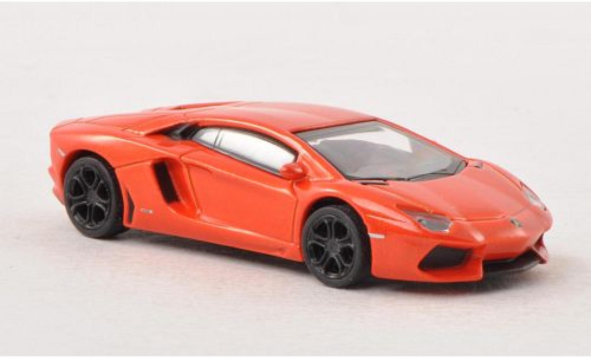 Lamborghini Aventador 1/87 Schuco LP 700-4 metallise orange