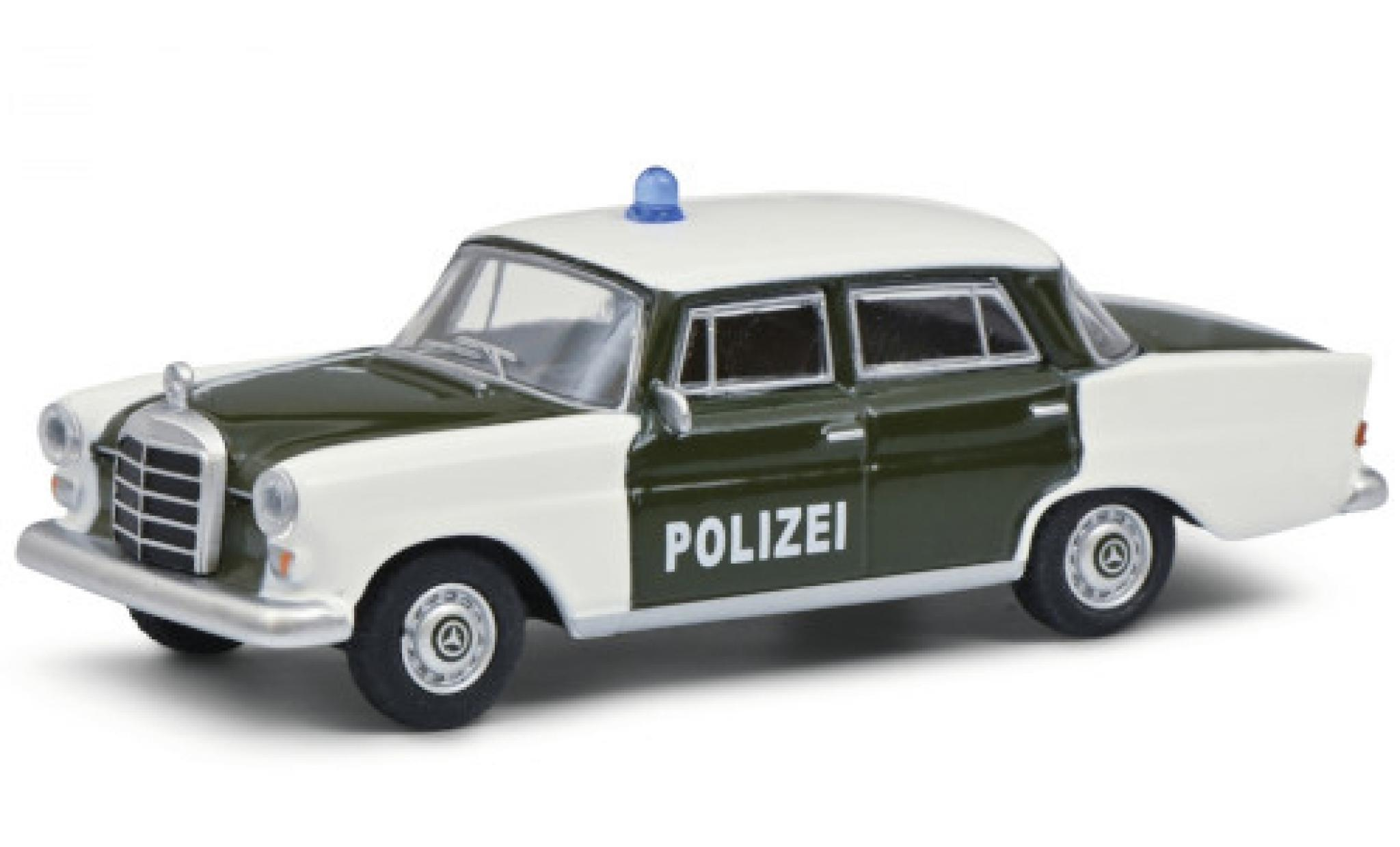 Mercedes 200 1/64 Schuco (W110) green/white Polizei 1961