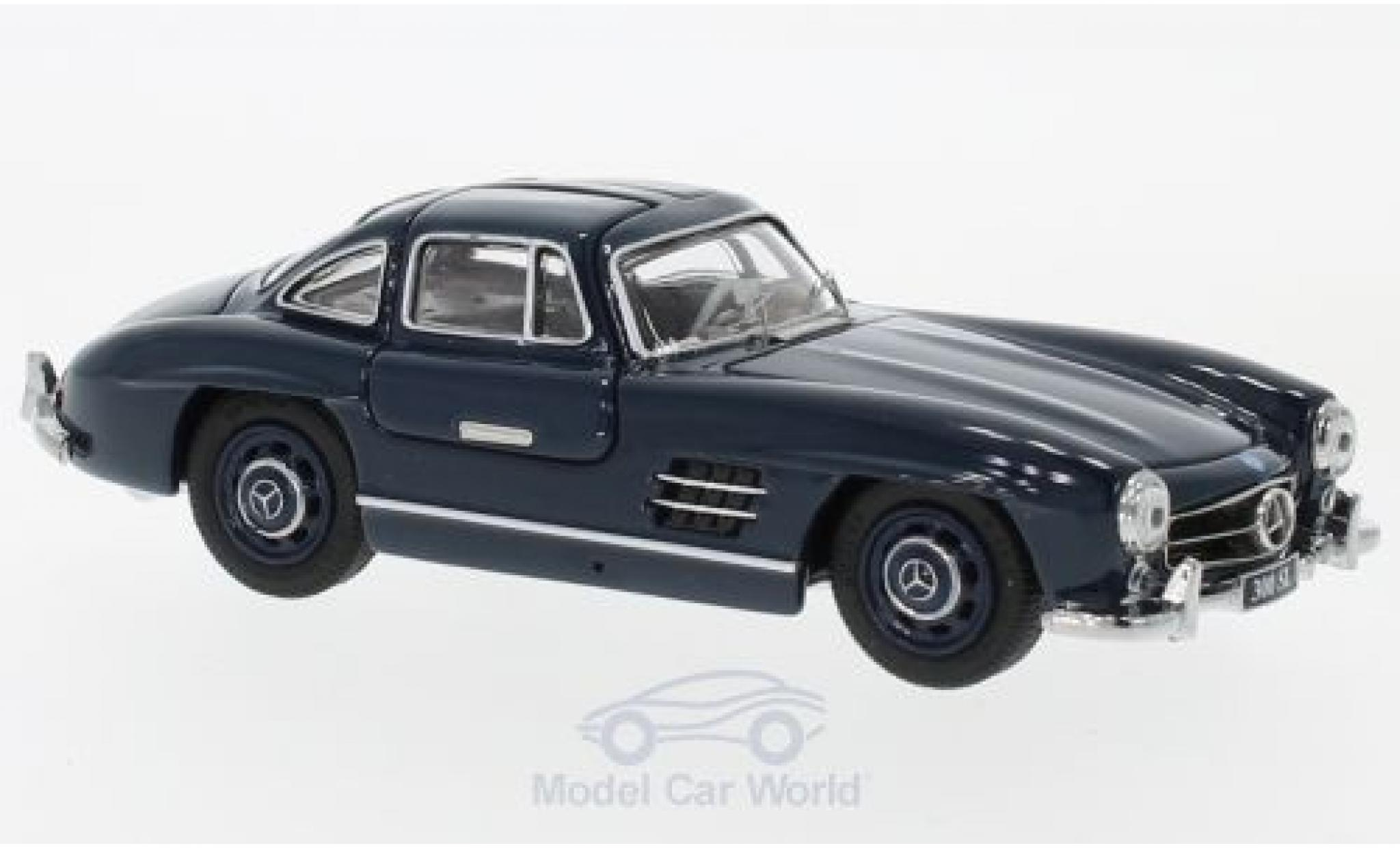 Mercedes 300 SL 1/43 Schuco Coupe (W198) bleue