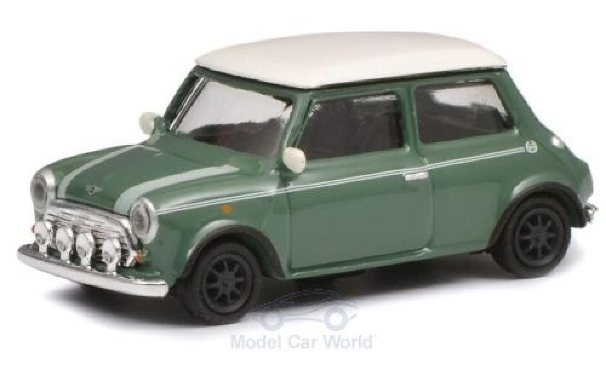 Mini Cooper 1/87 Schuco grün/weiss