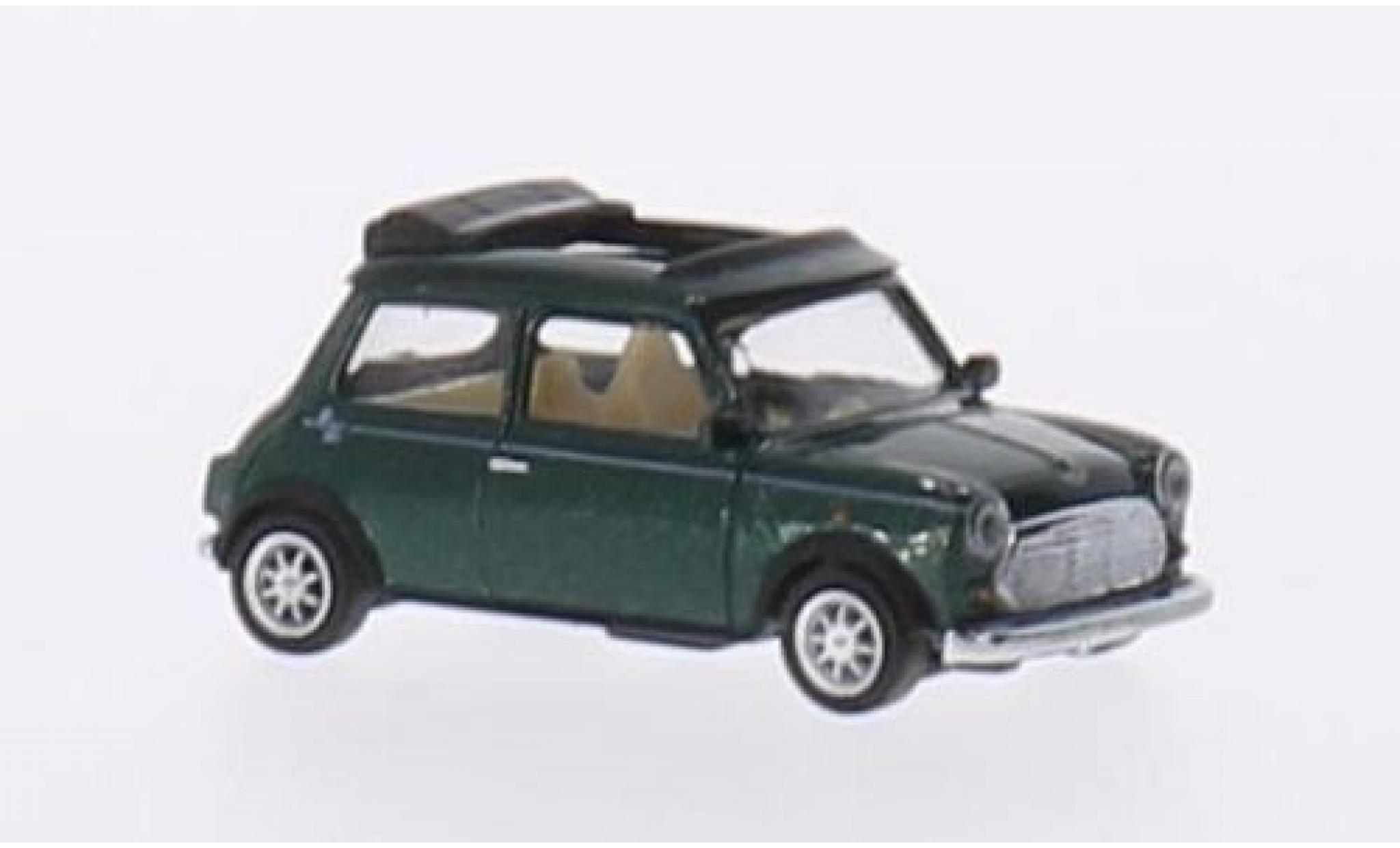 Mini Cooper 1/87 Schuco metallise verte Faltdach geöffnet
