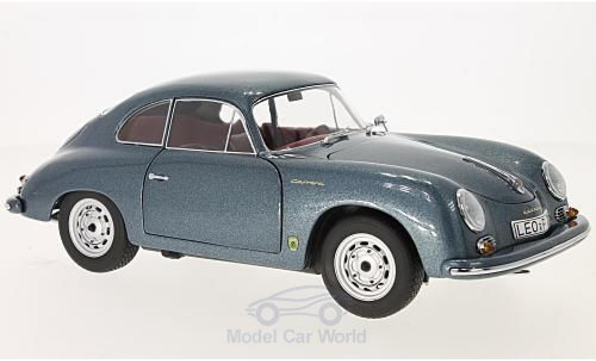 Porsche 356 A 1/18 Schuco Carrera Coupe metallise bleue 70 Jahre