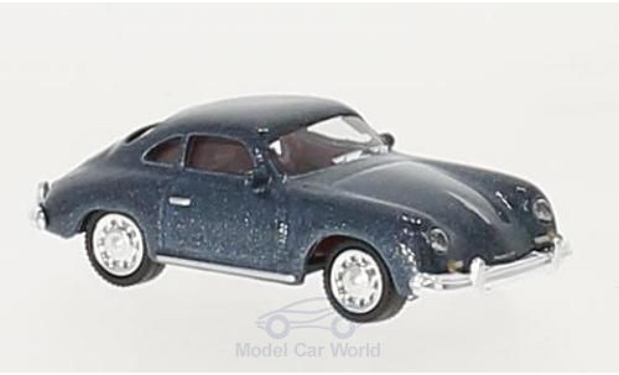 Porsche 356 A 1/87 Schuco A Coupe metallic-bleue