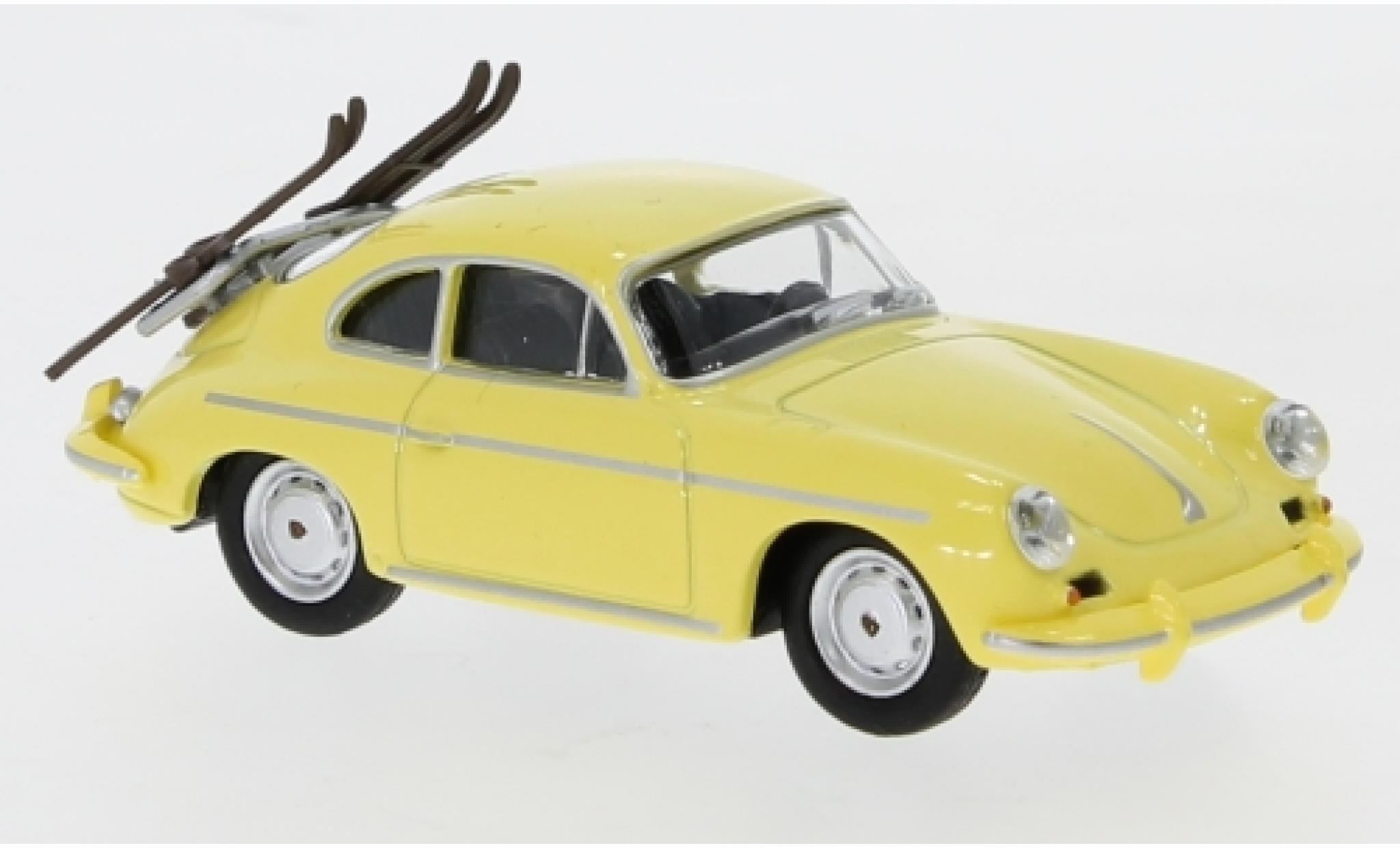 Porsche 356 1/64 Schuco Carrera 2 Skiurlaub