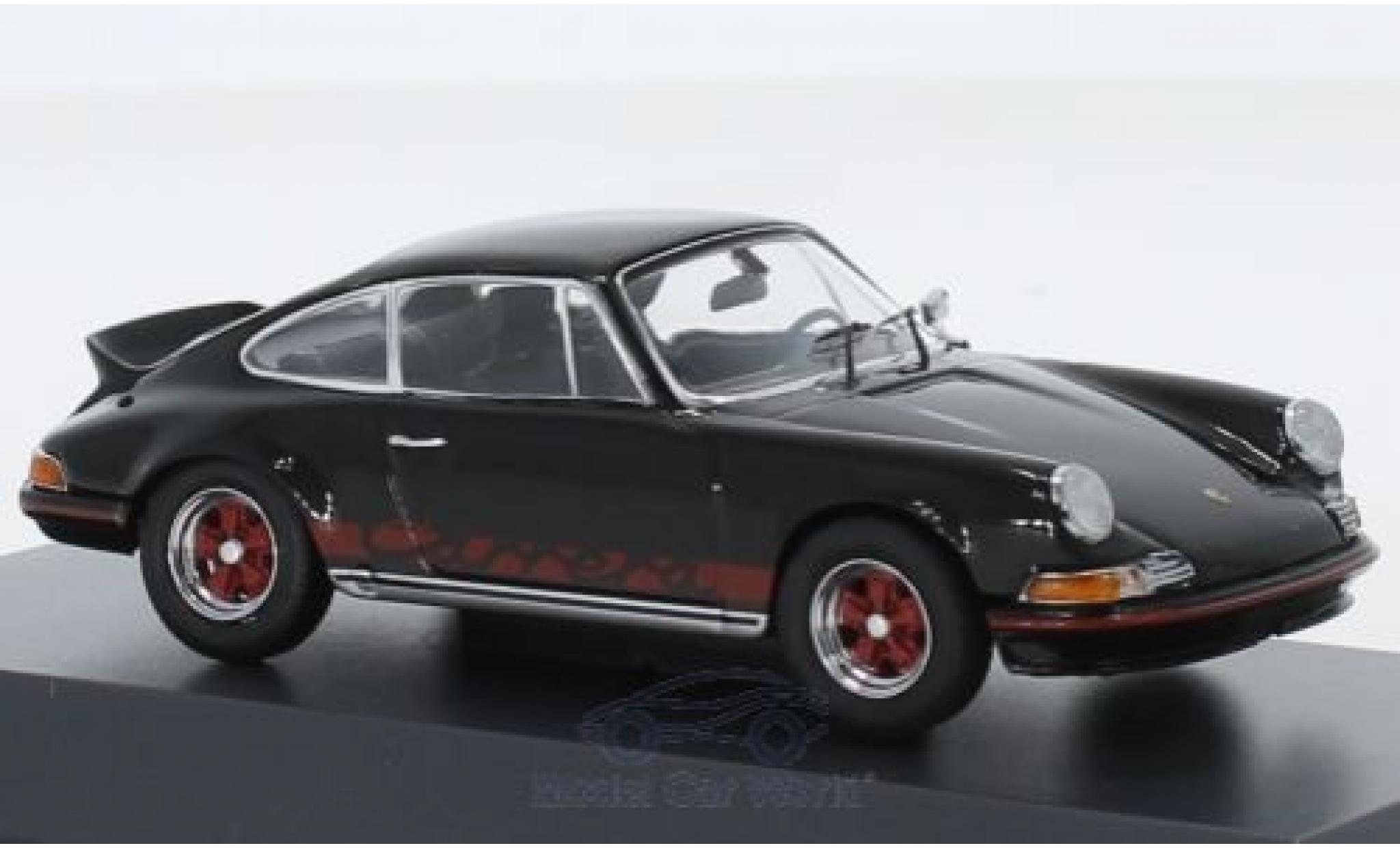 Porsche 911 1/43 Schuco 2.7 RS black/red 1973