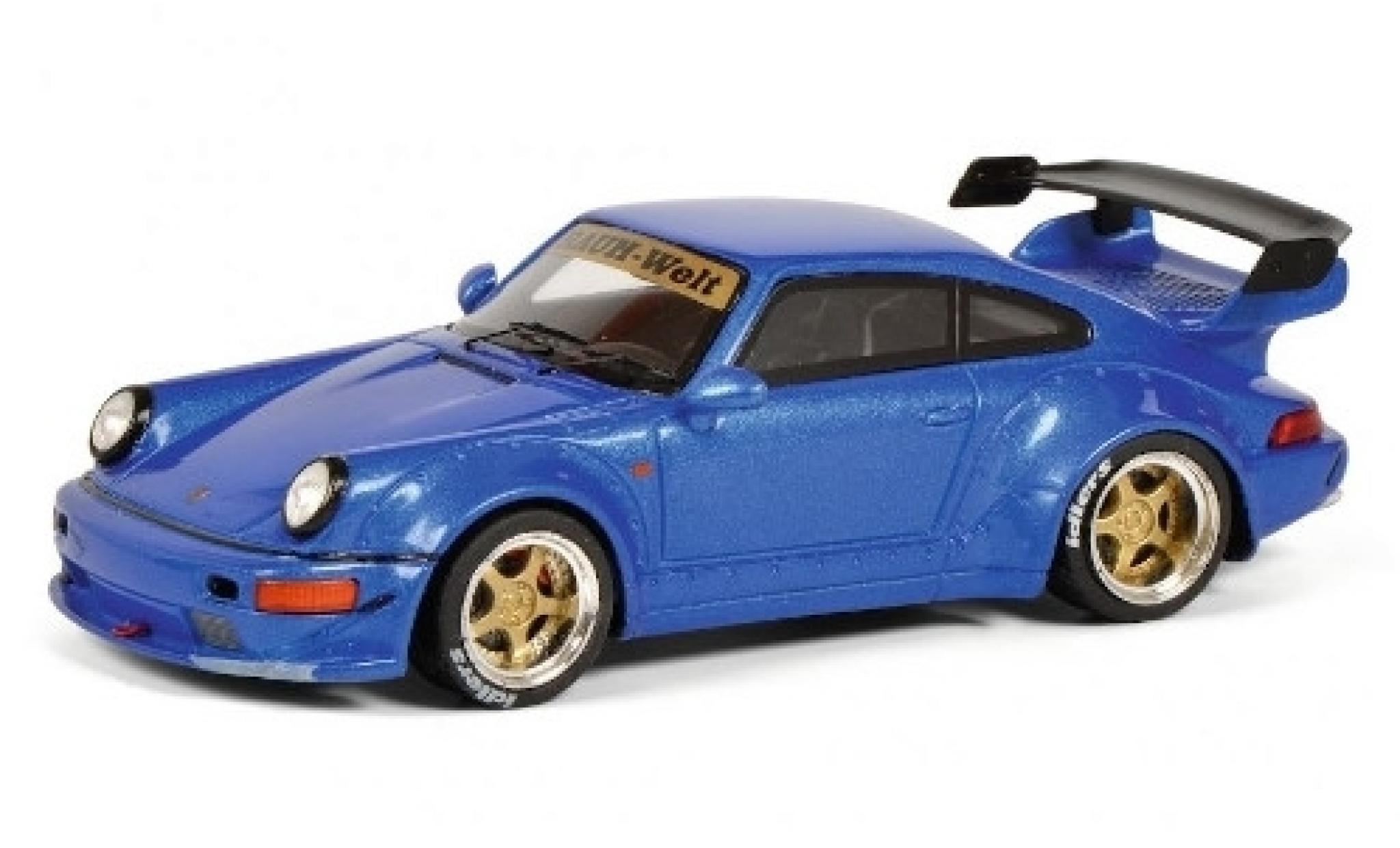Porsche 964 RWB 1/43 Schuco 911  RAUH-Welt metallise bleue