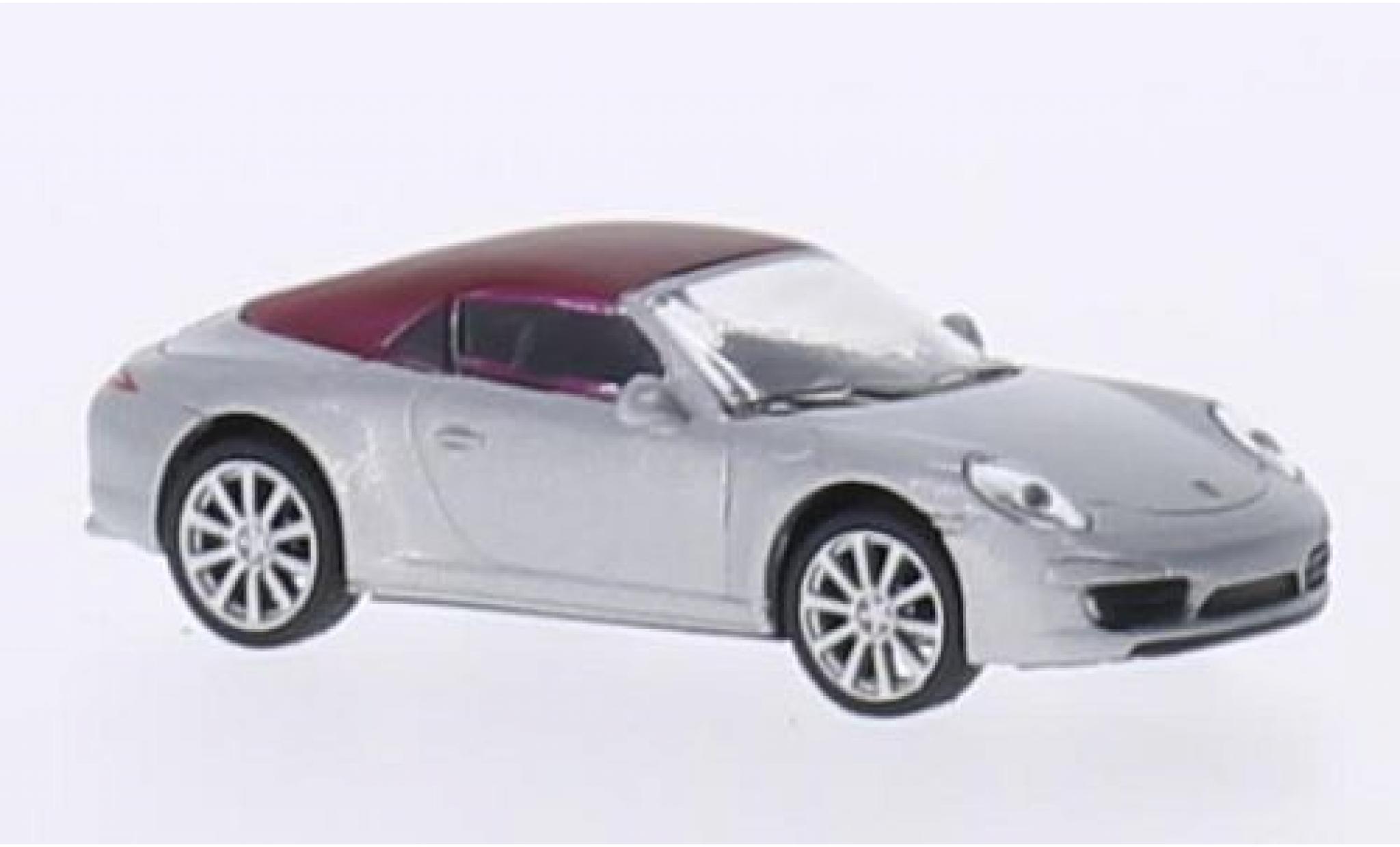 Porsche 991 S 1/87 Schuco 911  Carrera Cabriolet grey/matt-red