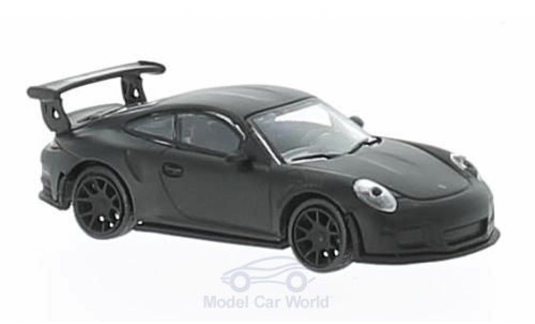 Porsche 991 GT3 RS 1/87 Schuco 911  matt-black