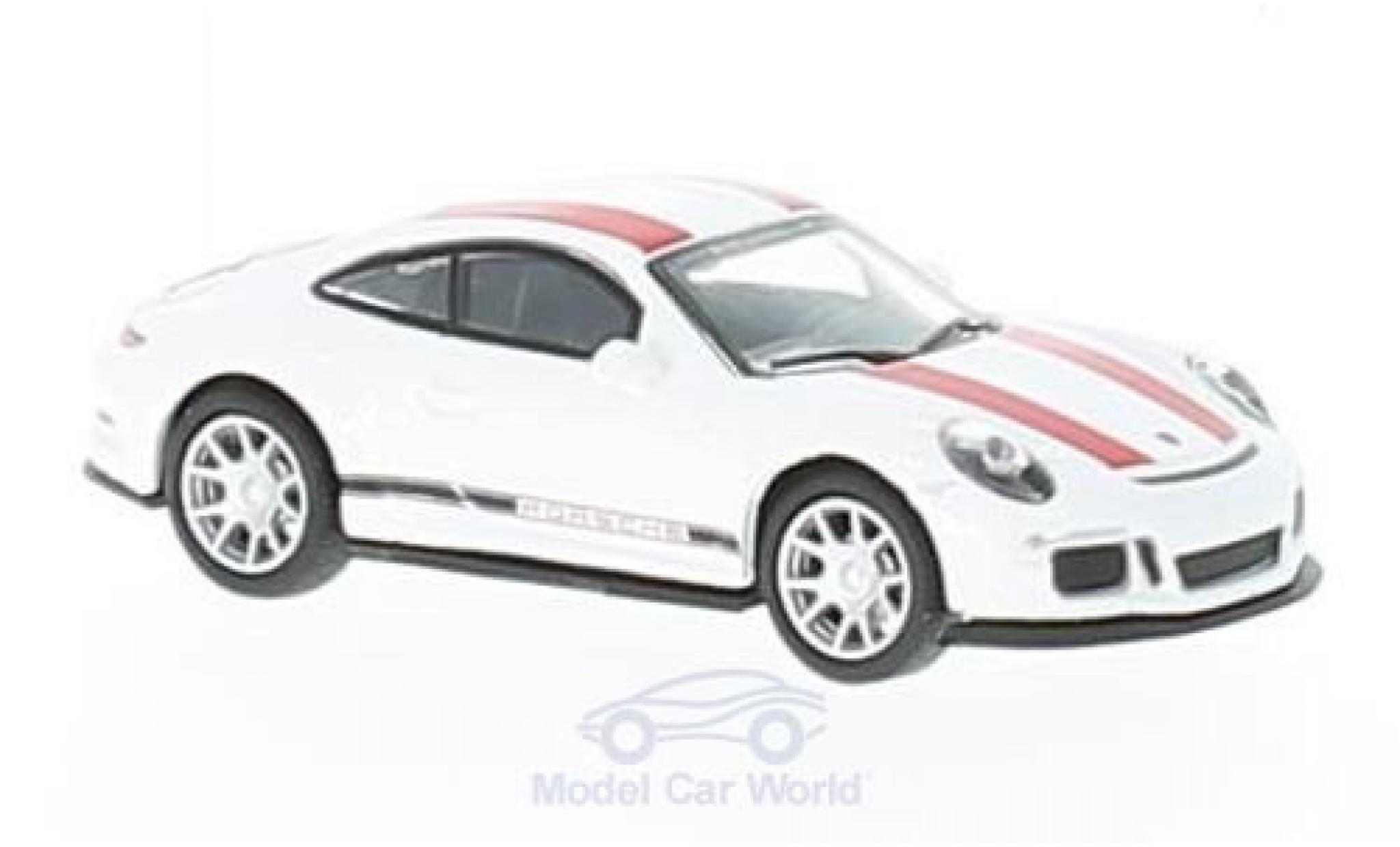Porsche 991 R 1/87 Schuco 911  blanche/rouge