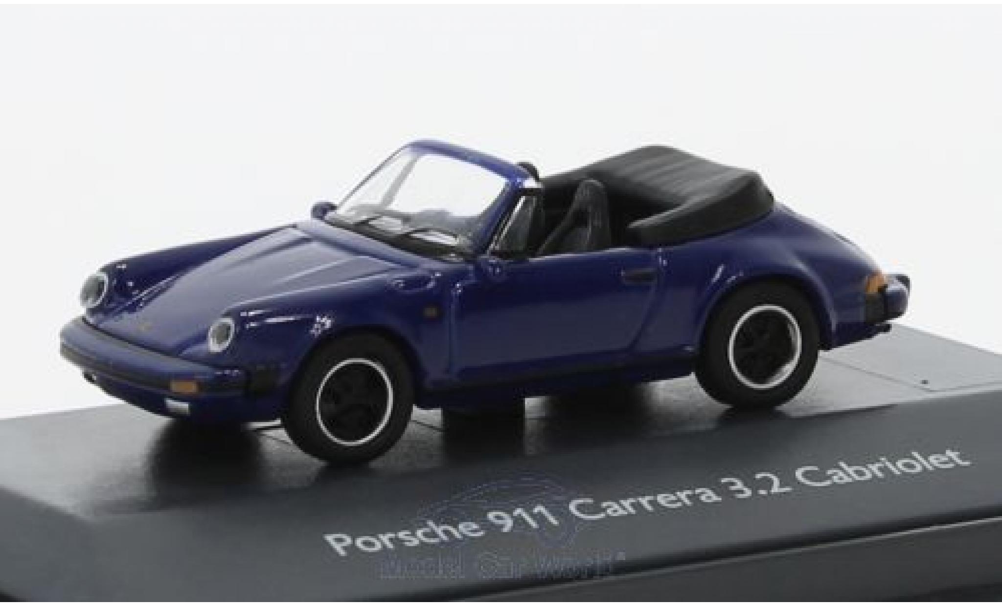 Porsche 911 SC 1/87 Schuco Carrera 3.2 Cabriolet bleue