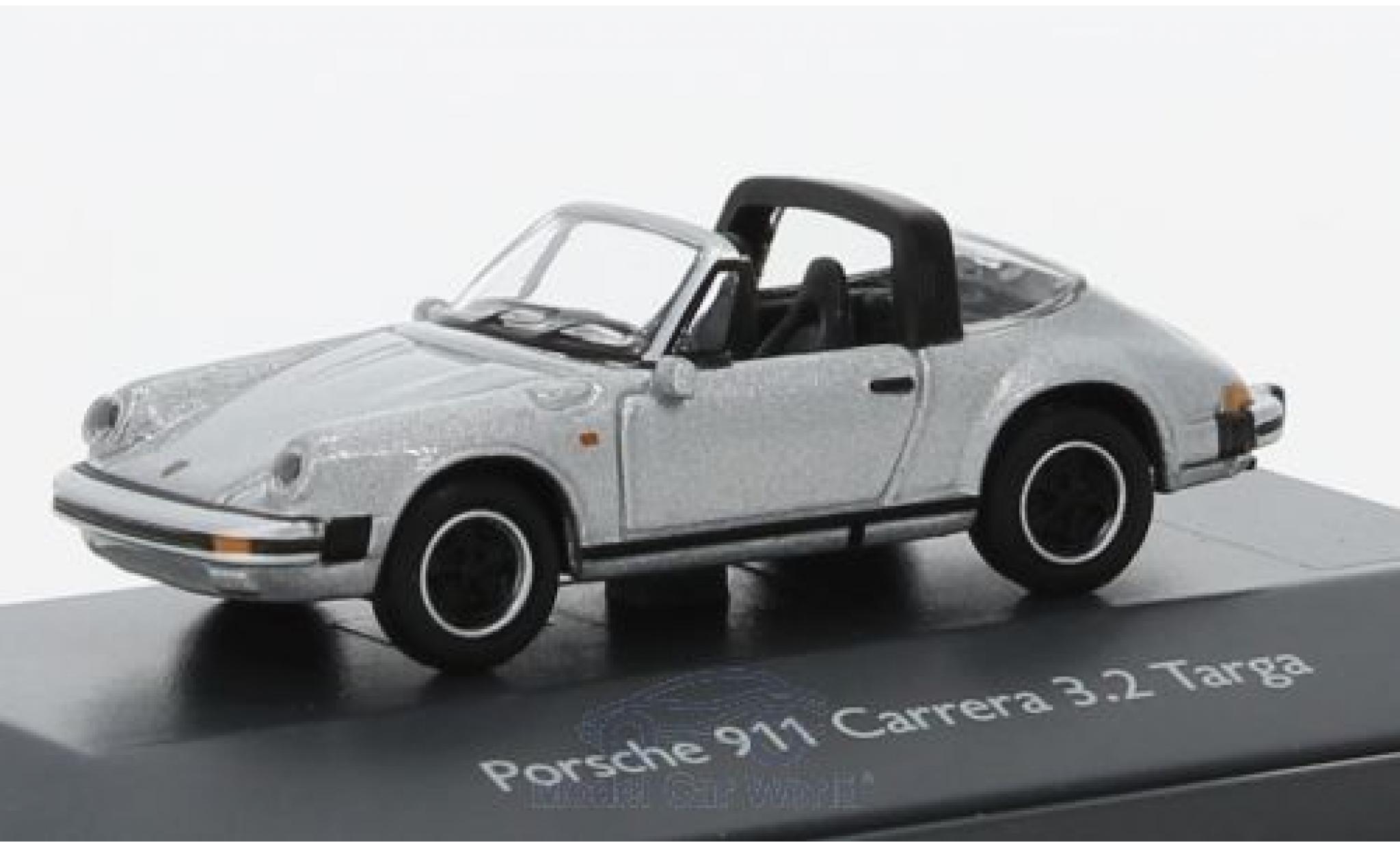 Porsche 911 Targa 1/87 Schuco Carrera 3.2 Targa grise