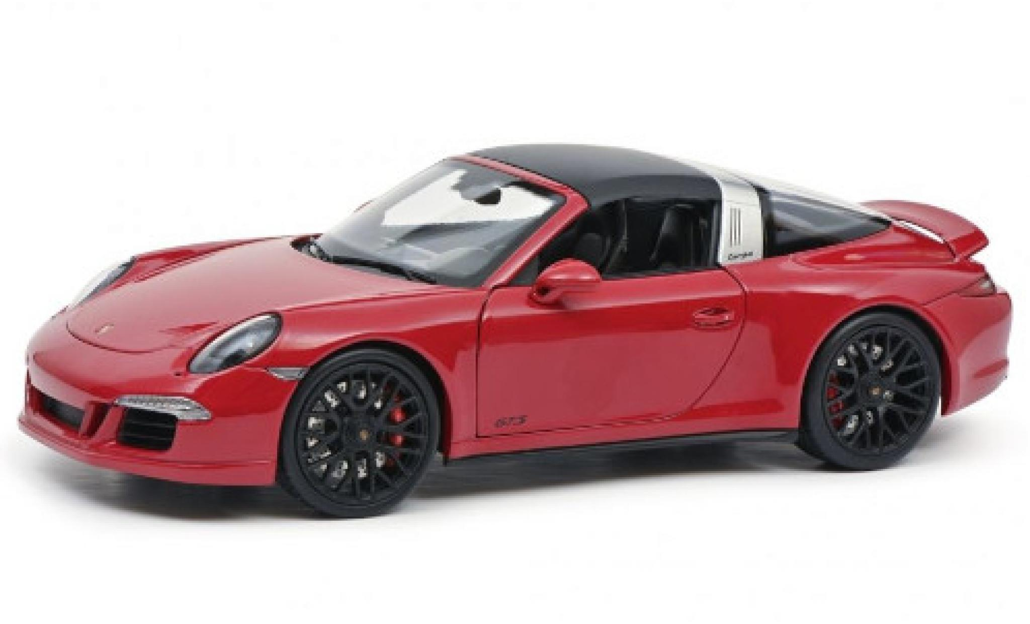 Porsche 991 Targa 1/18 Schuco 911 Carrera 4 GTS (.1) red 2014 toit détachable