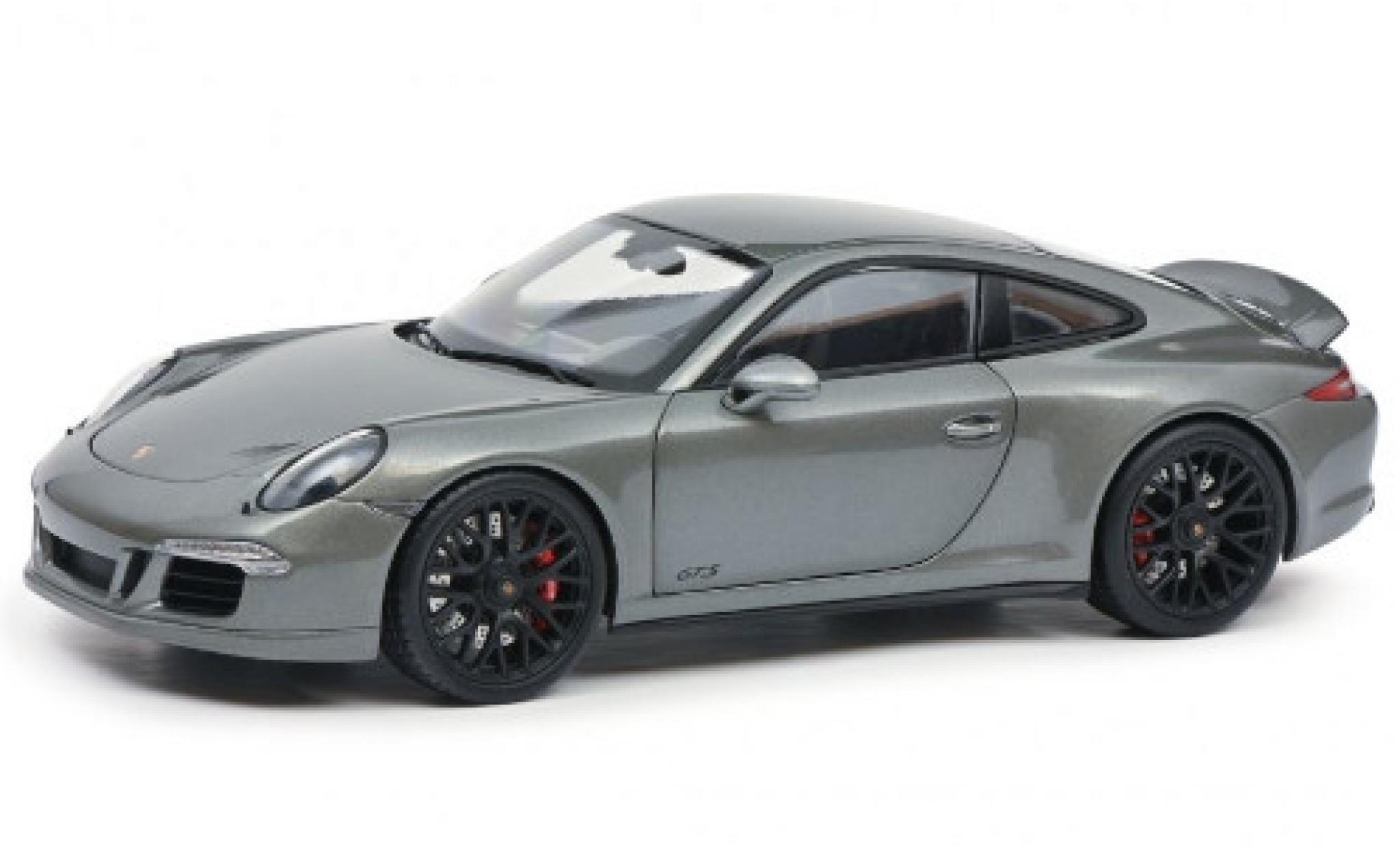 Porsche 991 GTS 1/18 Schuco 911 Carrera (.1) metallise grey 2014