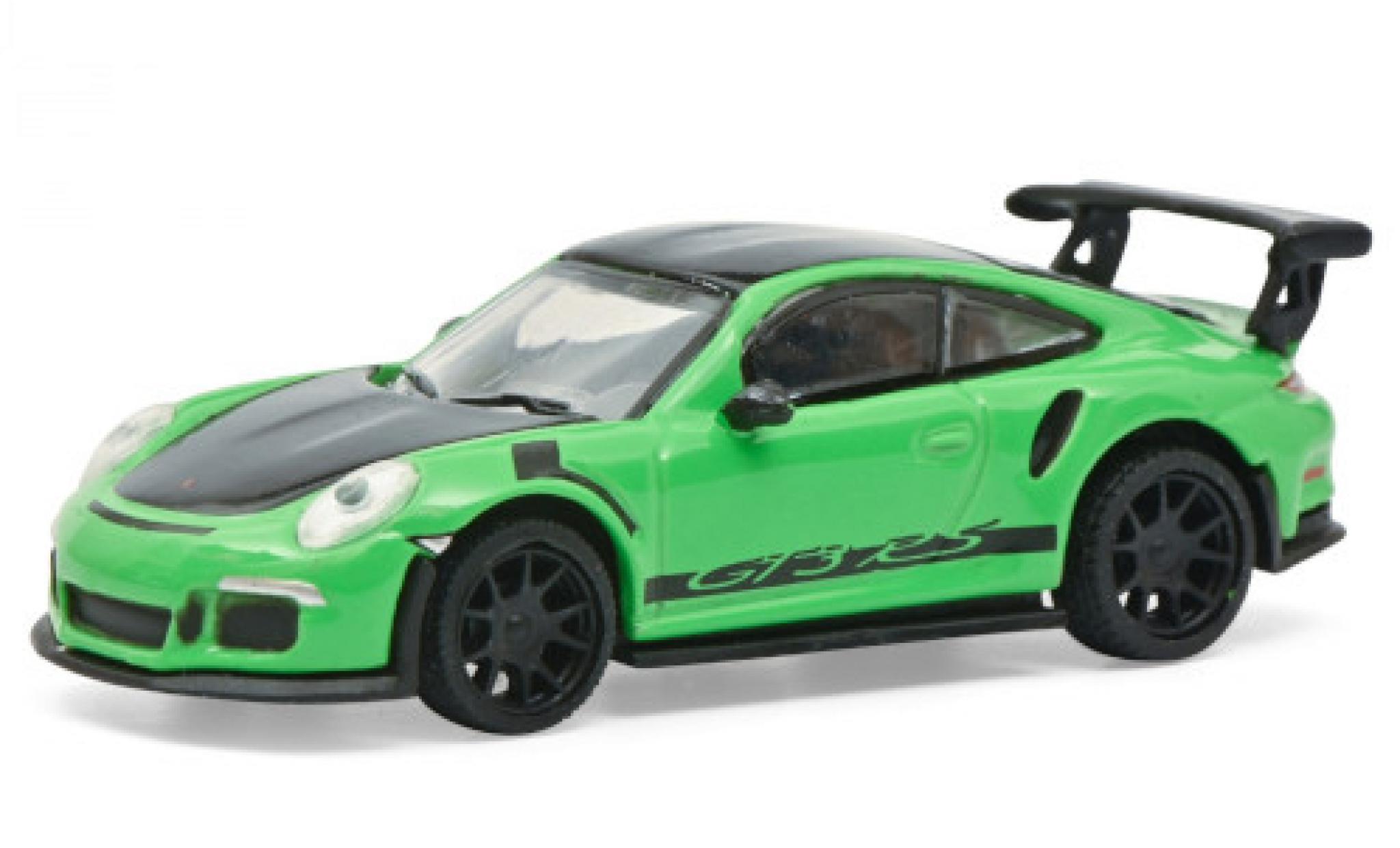 Porsche 991 GT3 RS 1/87 Schuco 911  green/matt-black
