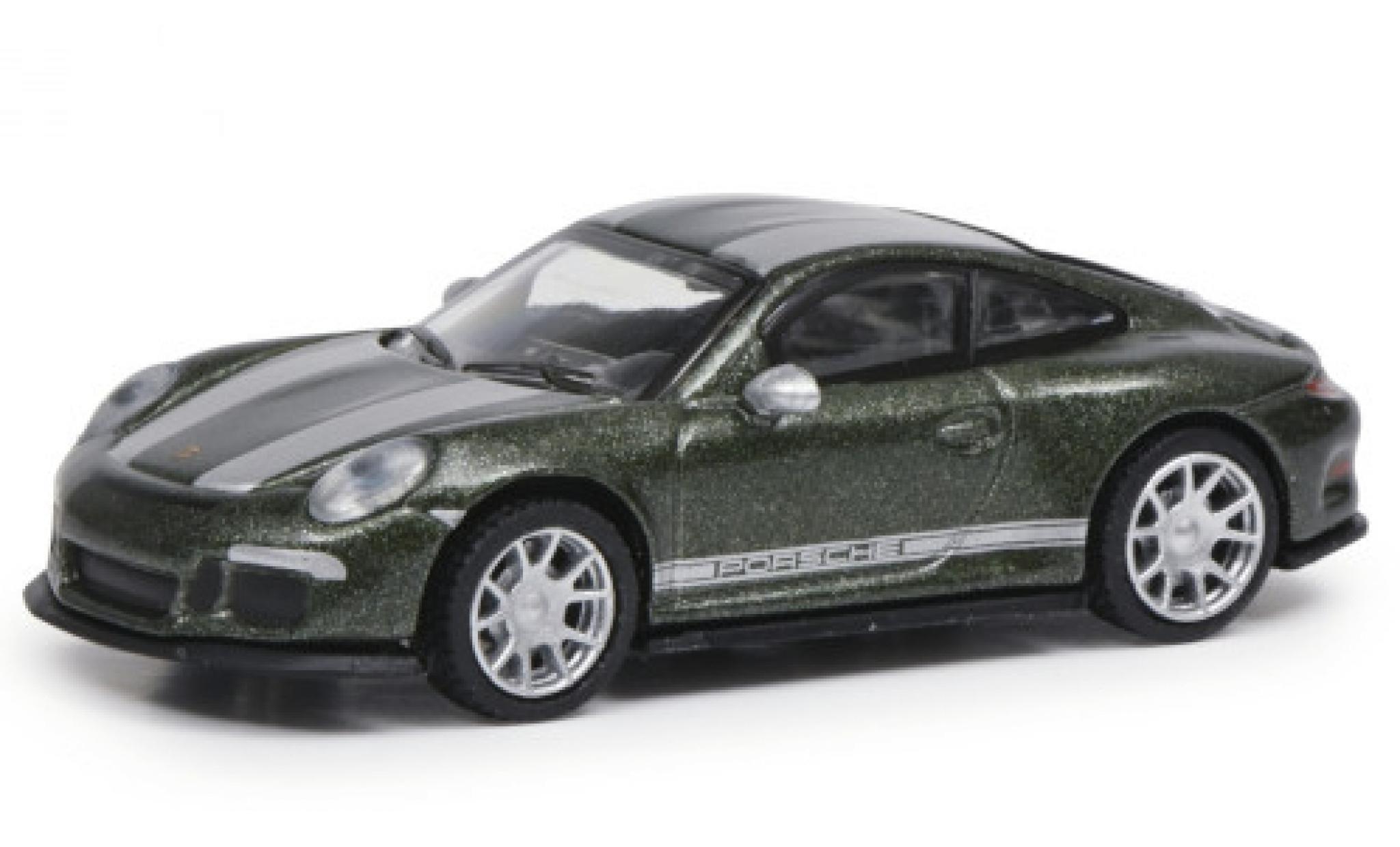 Porsche 991 R 1/87 Schuco 911  metallise green/grey