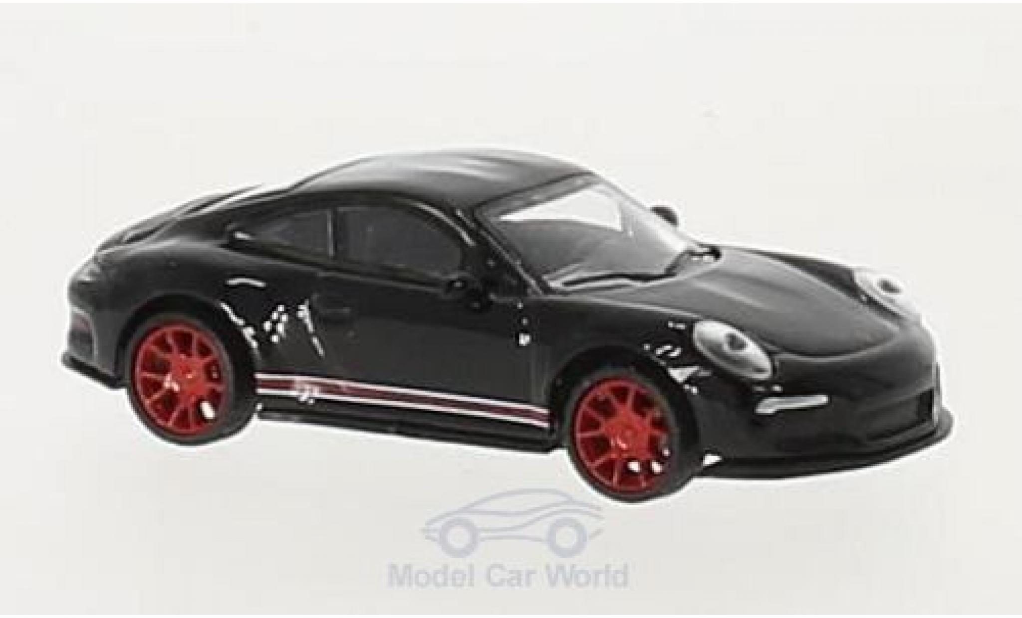 Porsche 991 R 1/87 Schuco 911  black/red