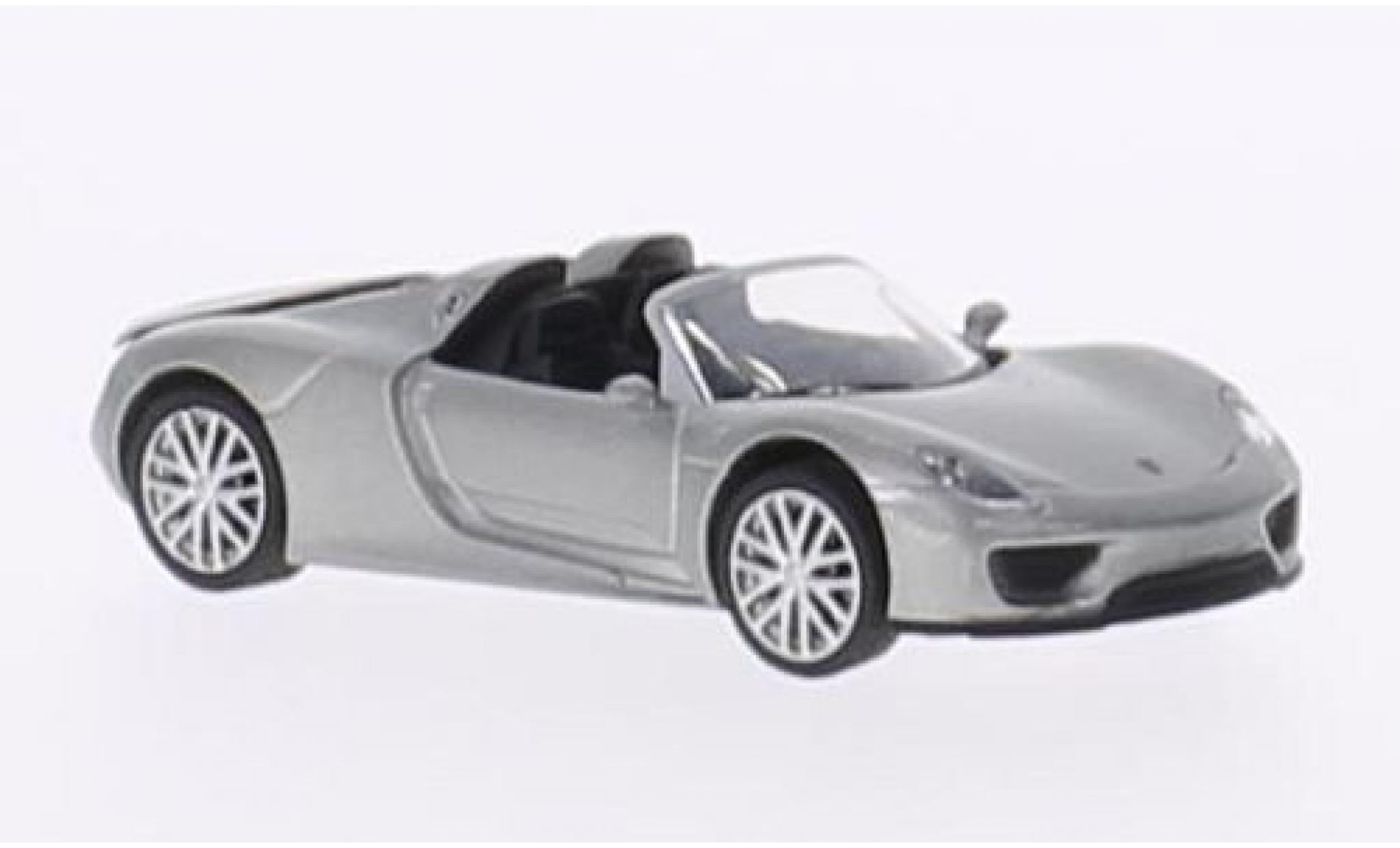 Porsche 918 1/87 Schuco Spyder metallise grise