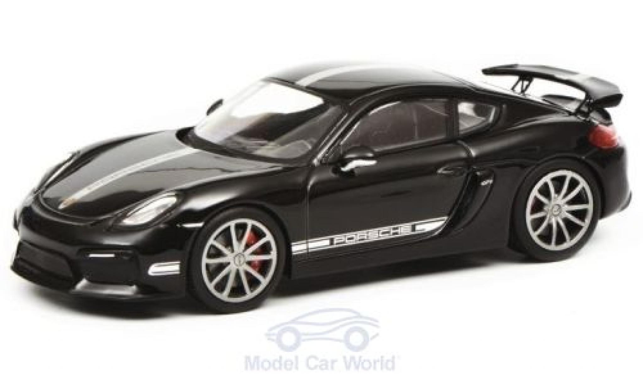Porsche Cayman 1/43 Schuco GT4 (981c) schwarz/silber 2015