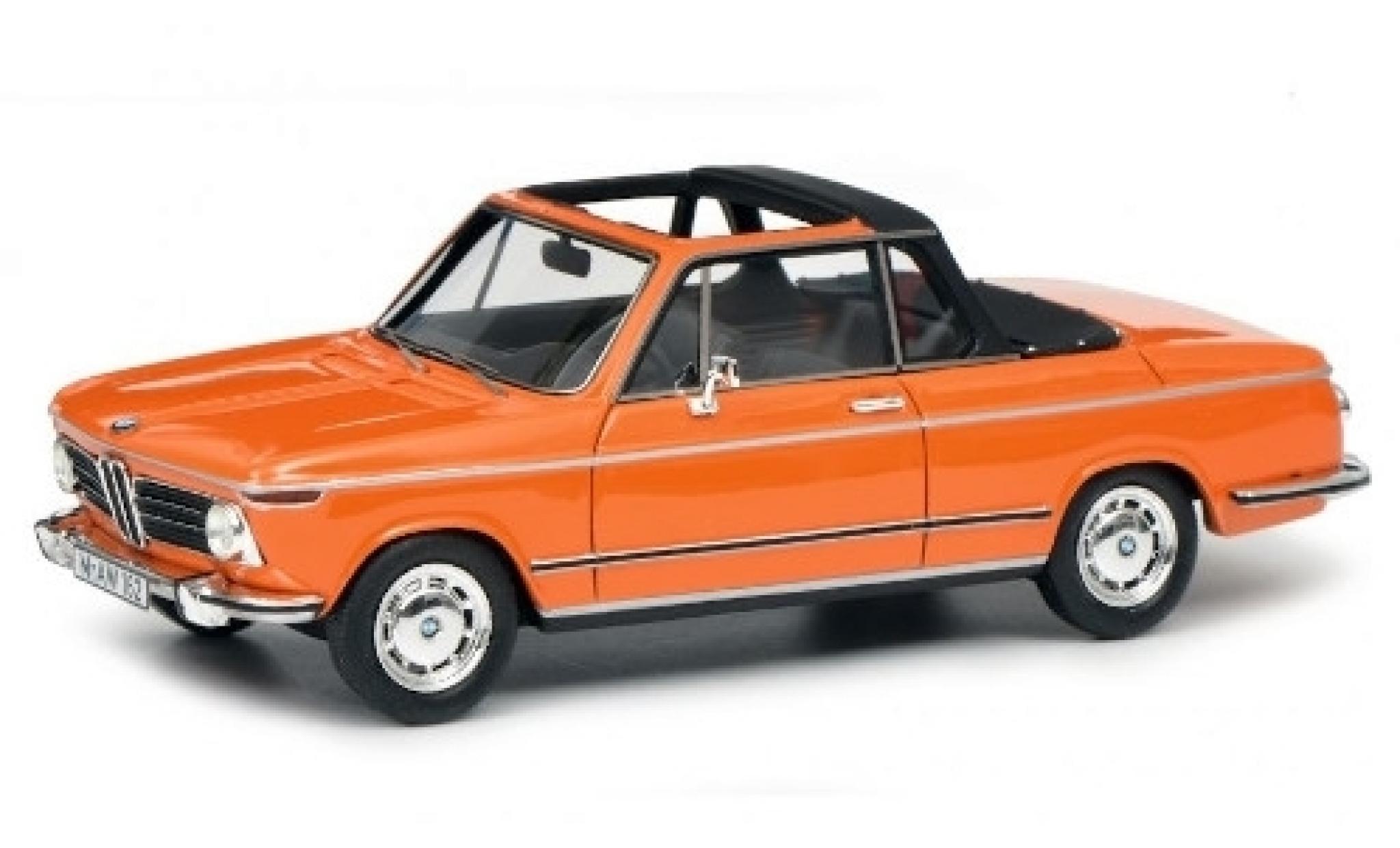 Bmw 2002 1/43 Schuco ProR Cabriolet Baur orange