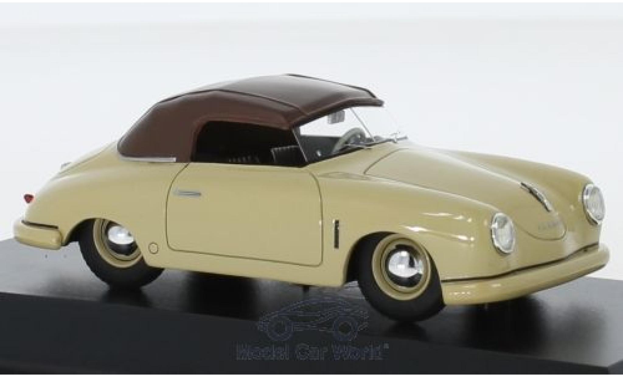 Porsche 356 1/43 Schuco ProR Gmünd Cabriolet beige/marron
