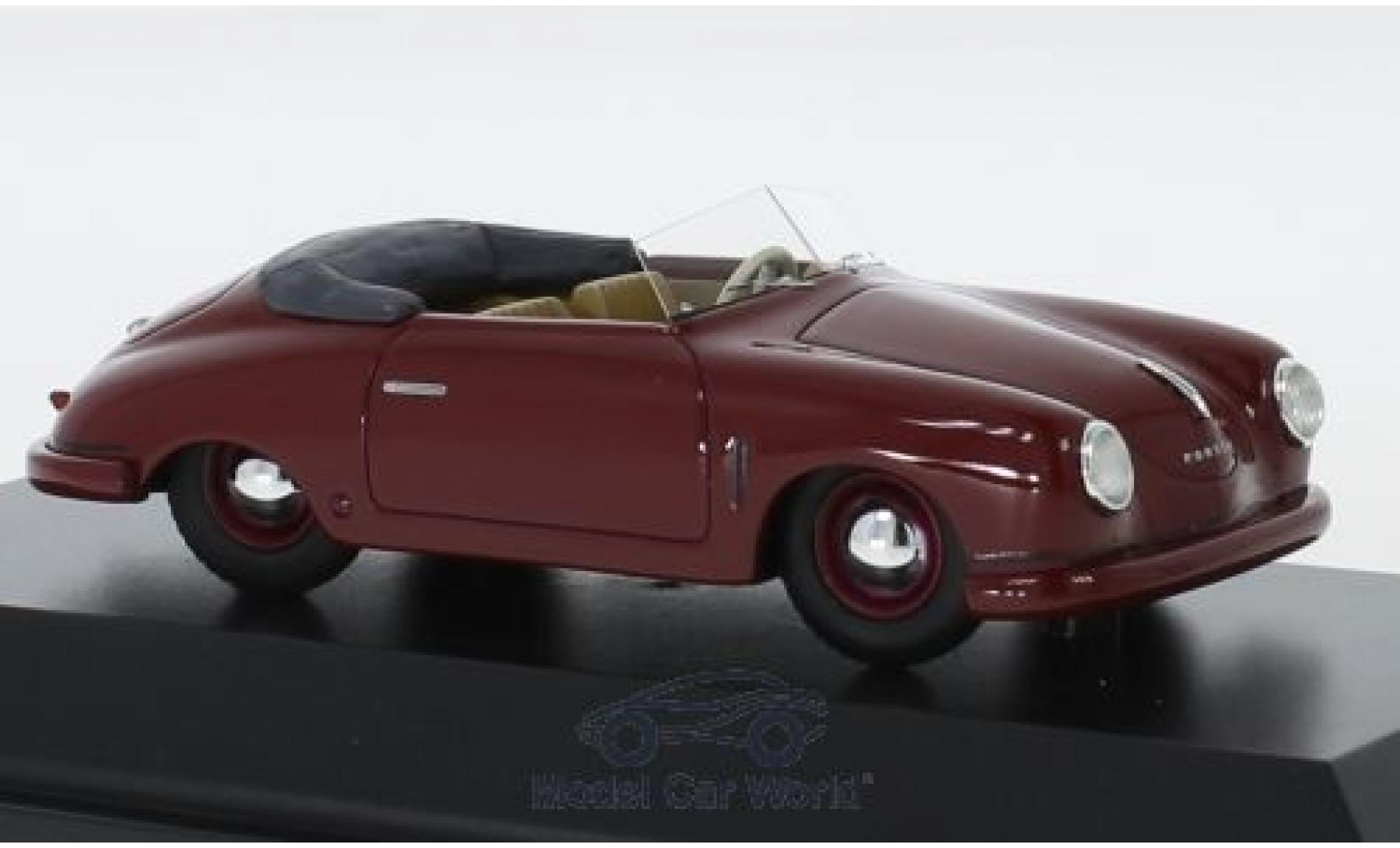 Porsche 356 1/43 Schuco ProR Gmünd Cabriolet rouge 1948