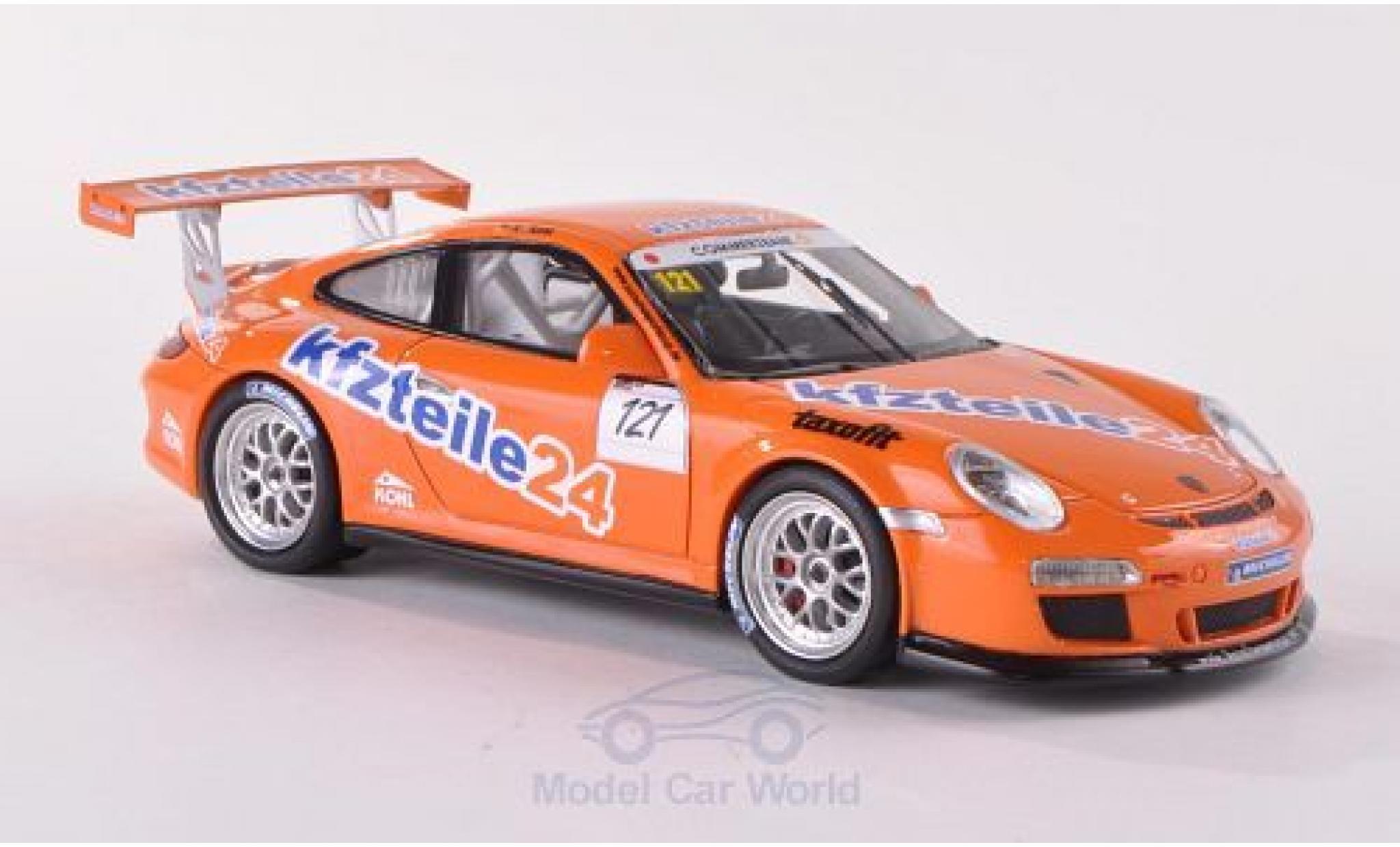 Porsche 997 SC 1/43 Schuco ProR (997) GT3 Cup No.121 MS Racing Kfzteile24 Cup A.Kohl