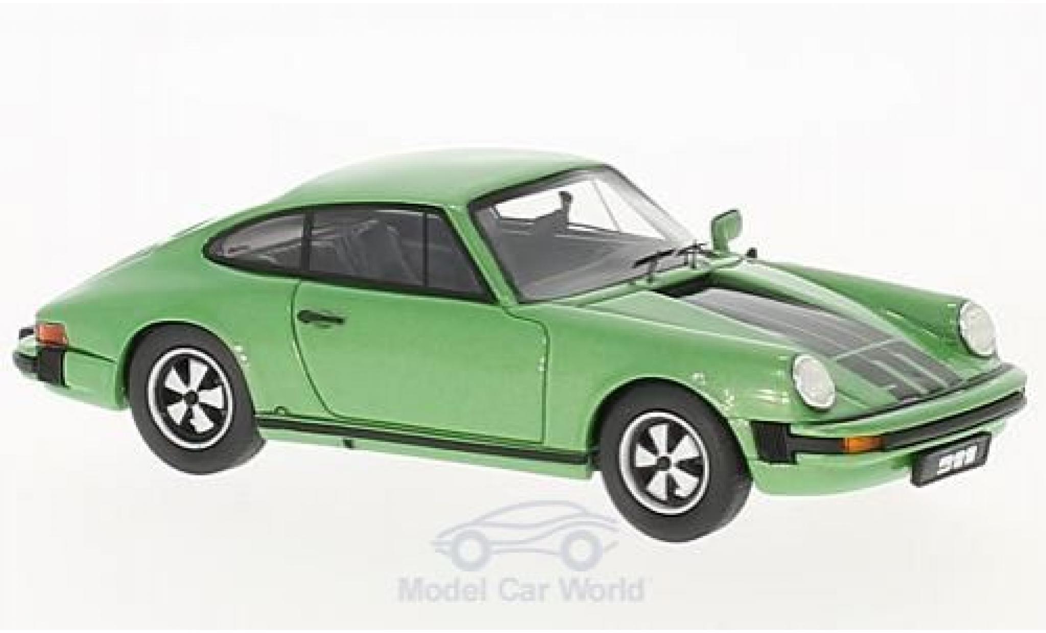 Porsche 911 SC 1/43 Schuco ProR Coupe metallic-grün/Dekor