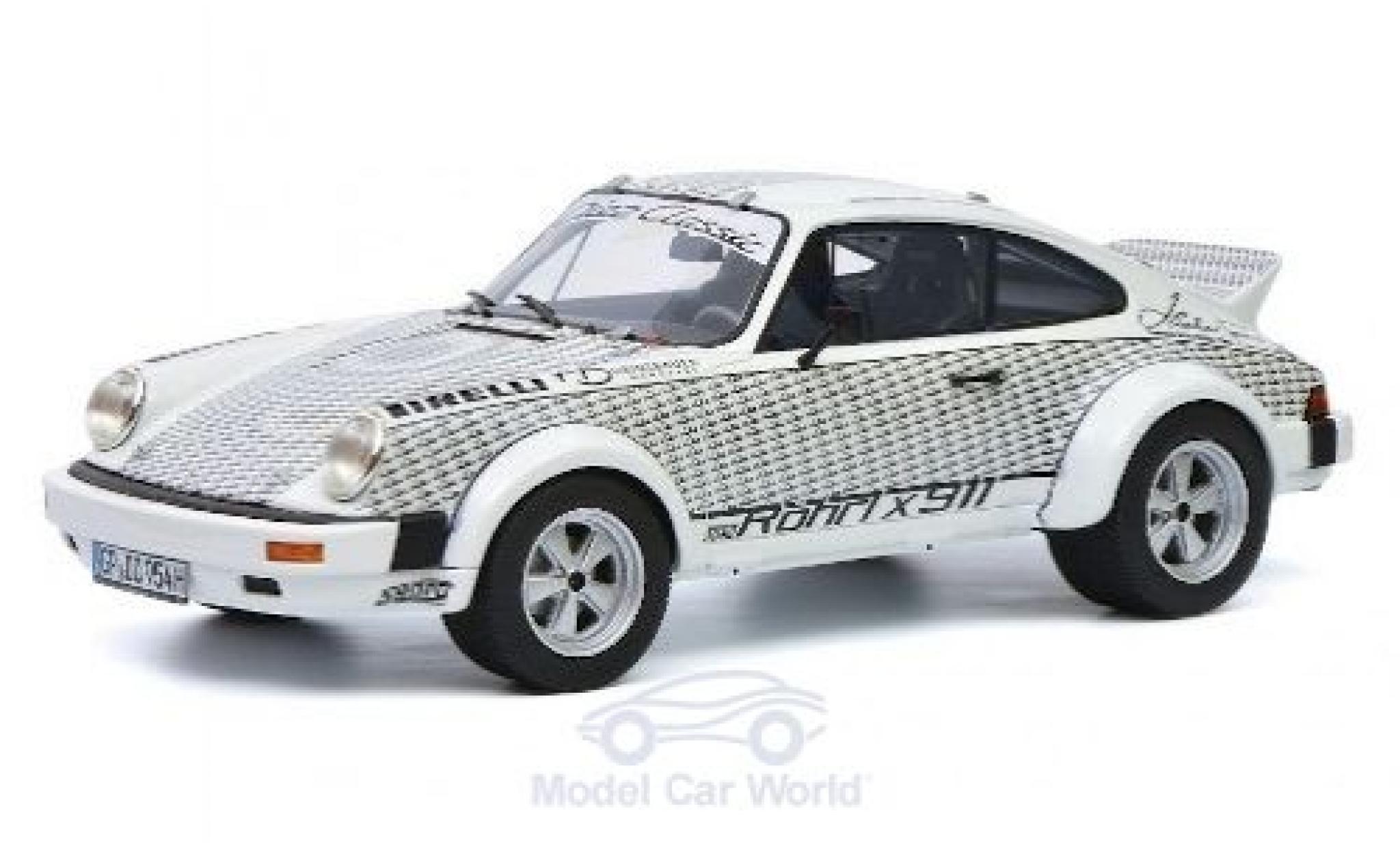 Porsche 911 1/18 Schuco ProR Walter Röhrl x blanche/Dekor Diez Classic