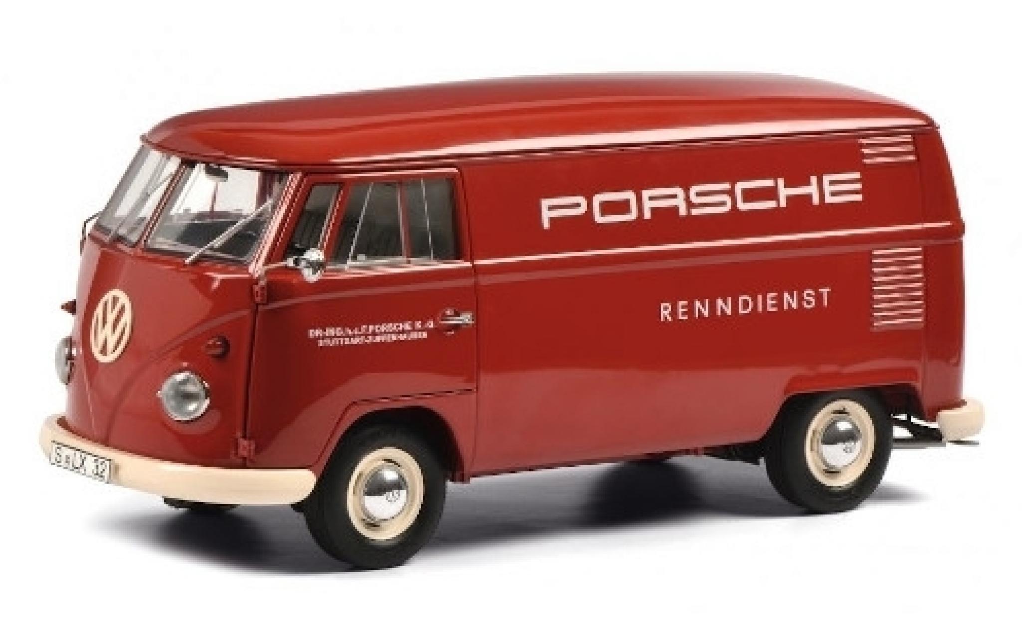 Volkswagen T1 1/18 Schuco Kasten Porsche Renndienst