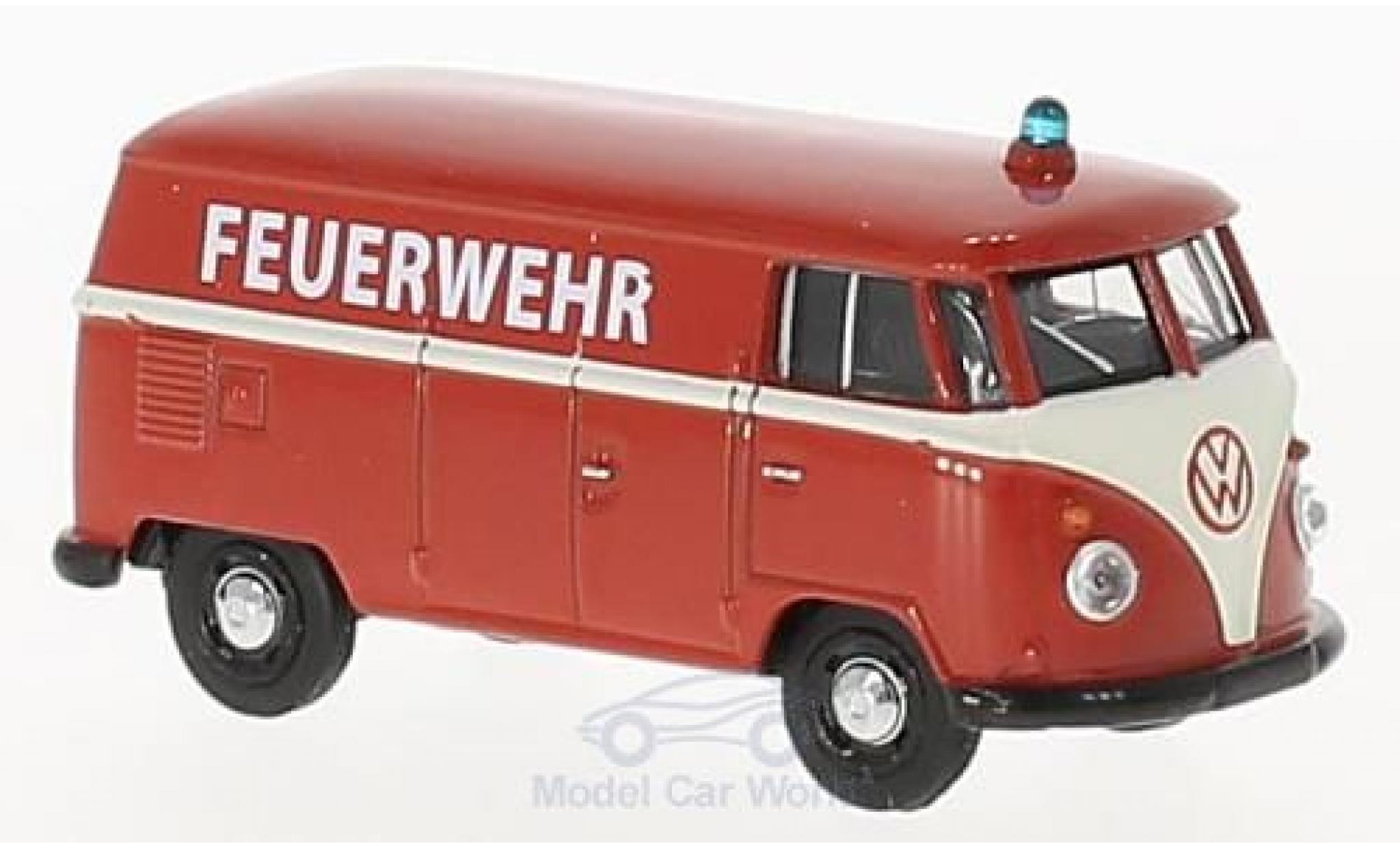 Volkswagen T1 A 1/64 Schuco Kastenwagen Feuerwehr