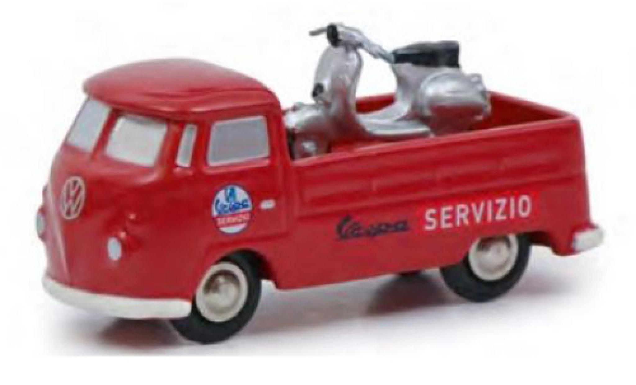 Volkswagen T1 1/90 Schuco Pritsche Servizio Vespa avec Vespa