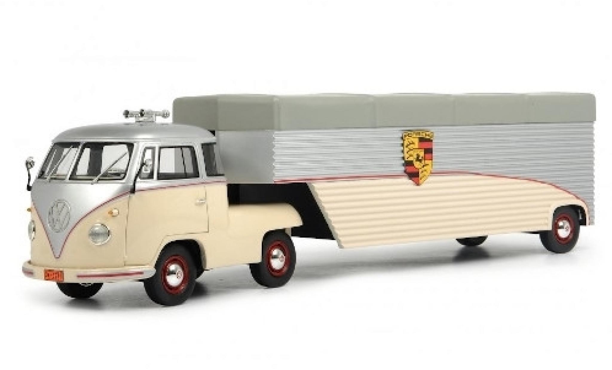 Volkswagen T1 1/18 Schuco Renntransporter Continental Motors Zugmaschine mit Auflieger