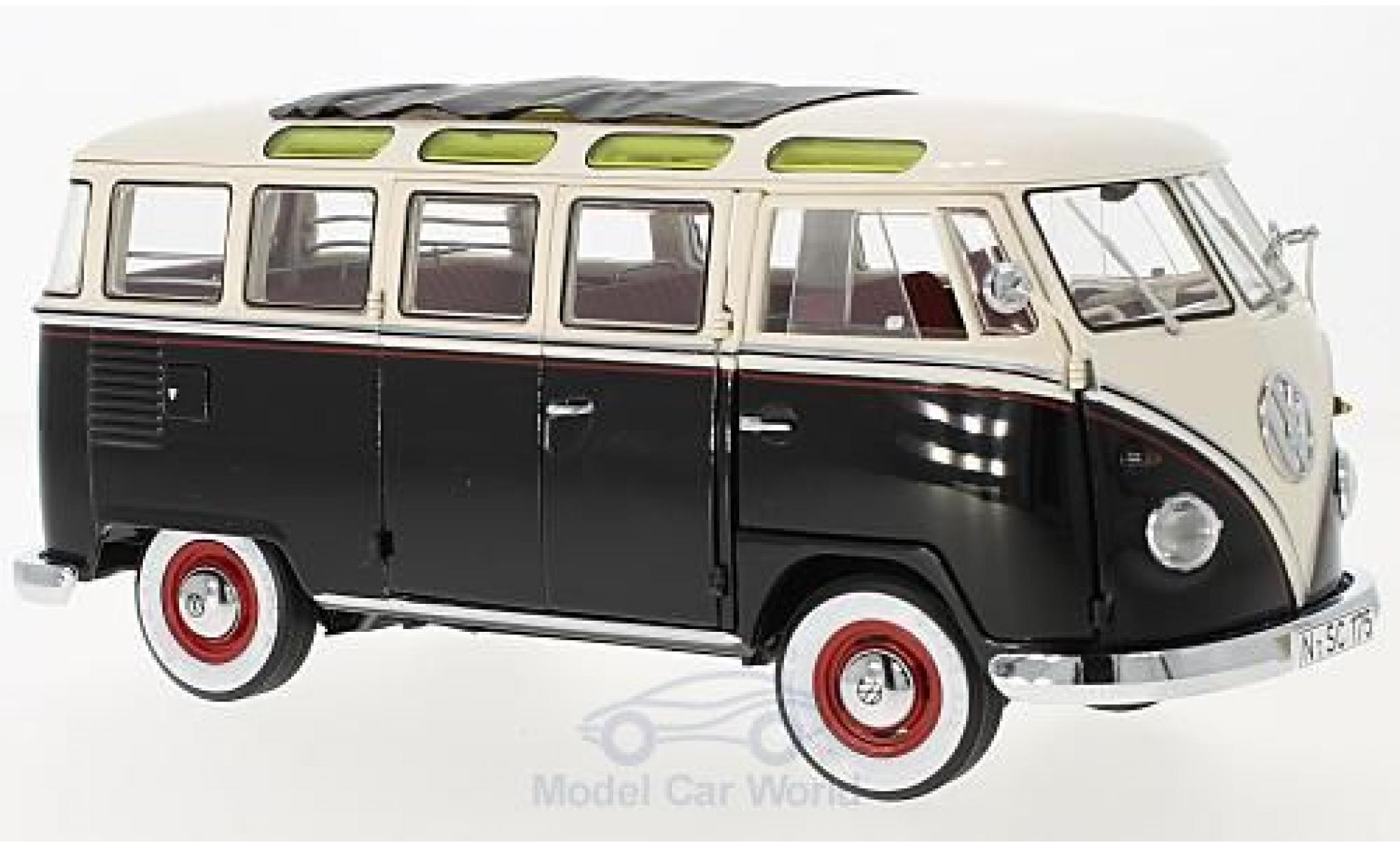 Volkswagen T1 B 1/18 Schuco Samba black/white 1959