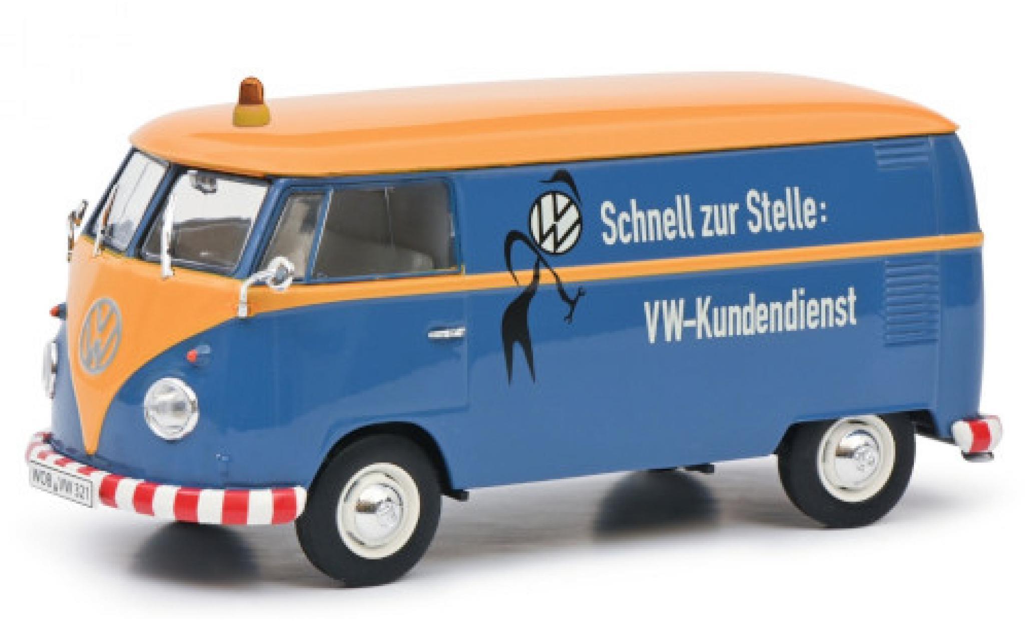 Volkswagen T1 1/32 Schuco b Kasten VW-Kundendienst
