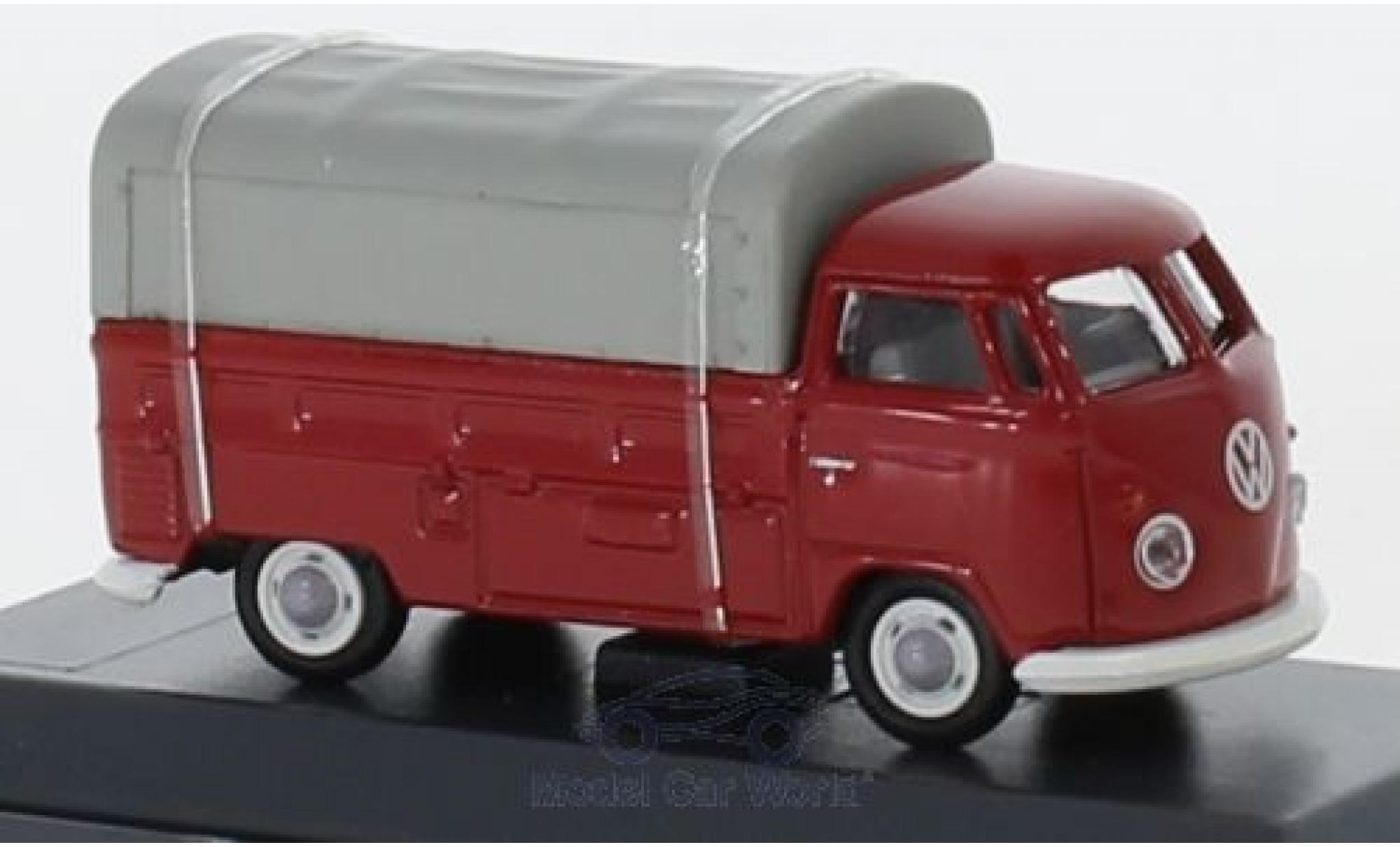 Volkswagen T1 1/87 Schuco b Pritsche red/grey mit Plane