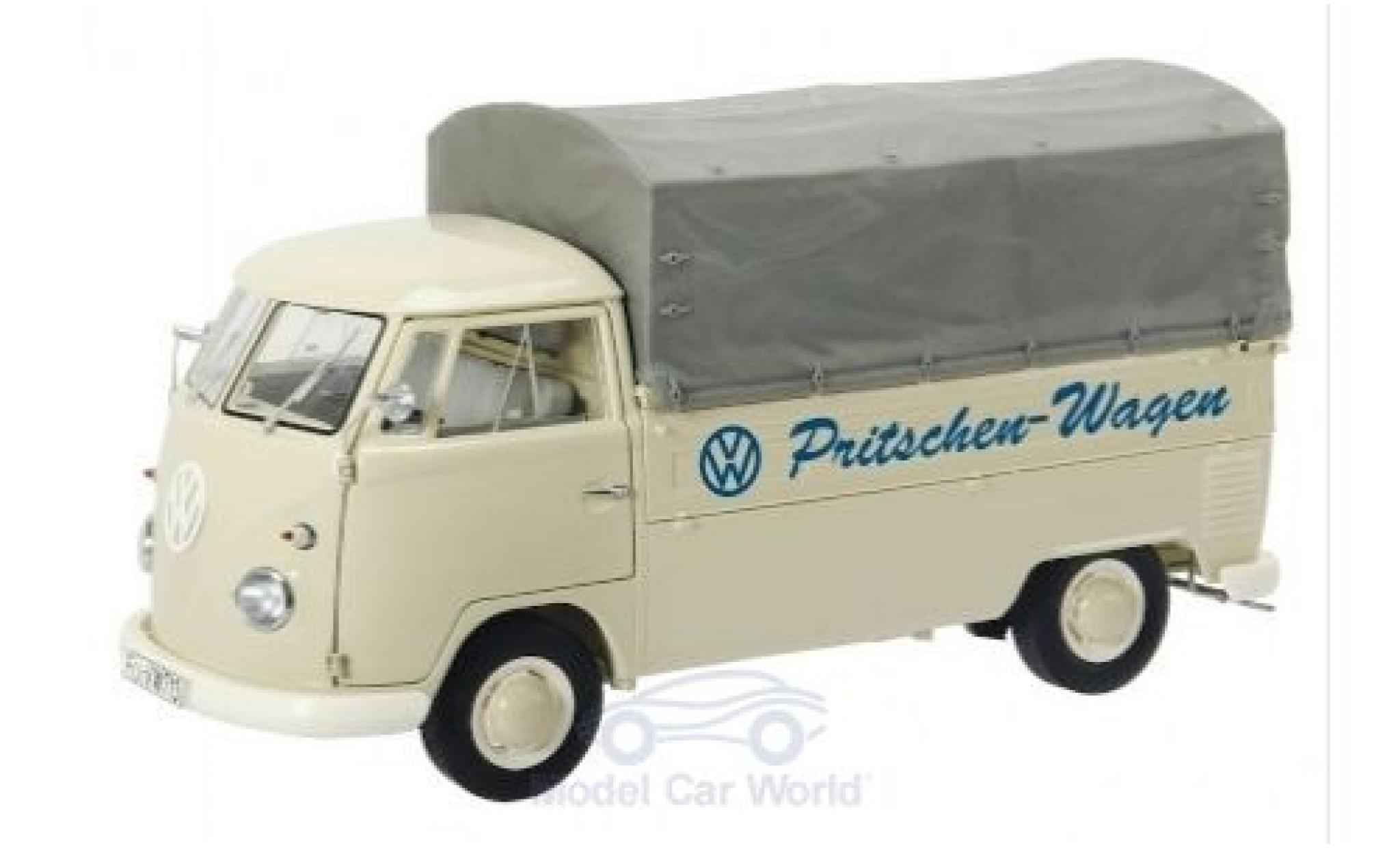 Volkswagen T1 1/18 Schuco b Pritsche Pritschen-Wagen 1959 mit Plane