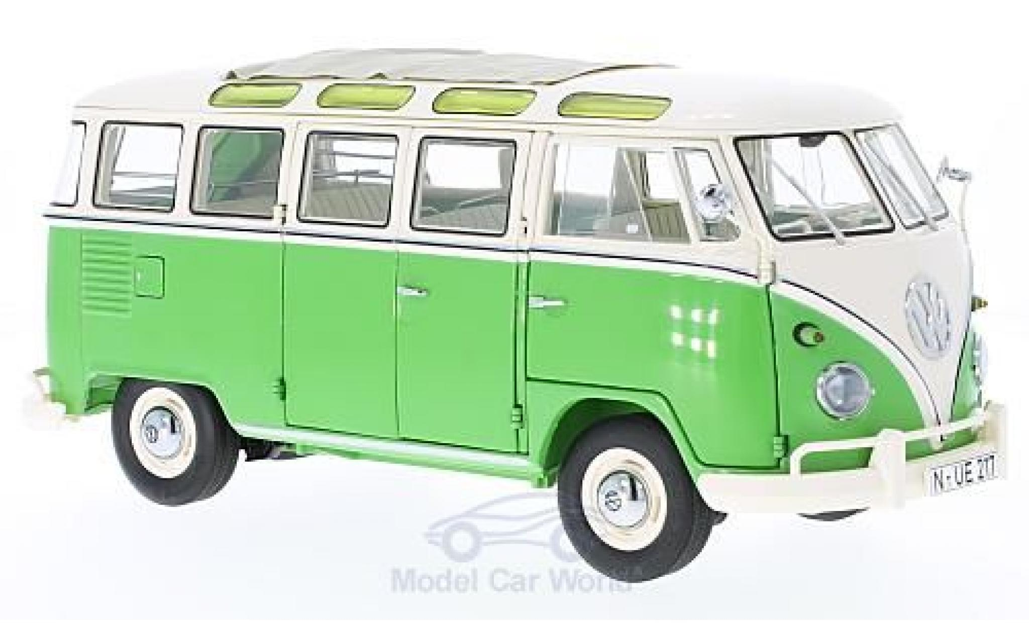 Volkswagen T1 B 1/18 Schuco b Samba verte/beige